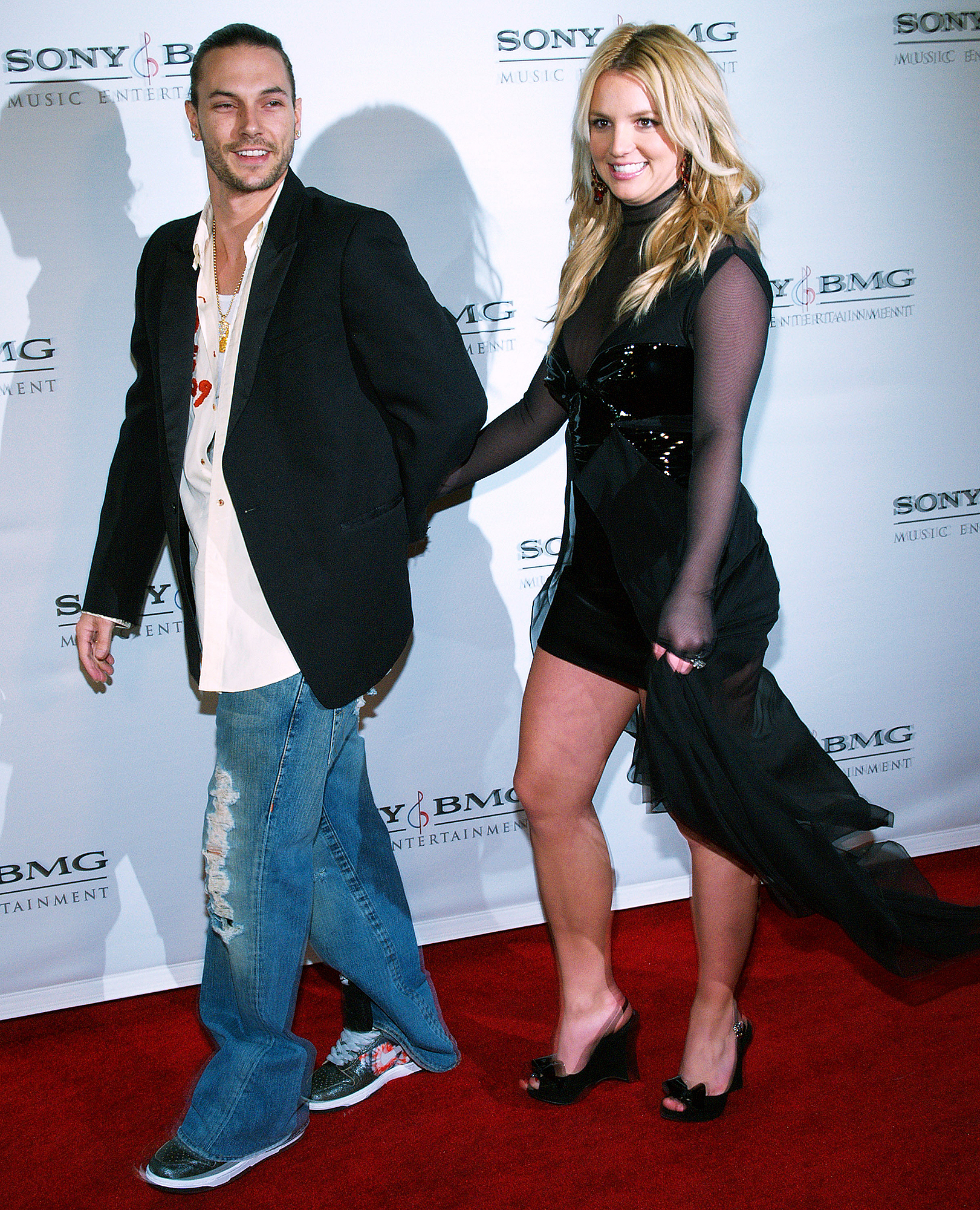 """Nov-2013-Kevin-Federline,-Britney-Spears - The Celebrity Fit Club alum made an effort to get along with Spears' then-boyfriend David Lucado at one of Preston and Jayden's soccer games. Federline also addressed any would-be awkwardness to TMZ , saying, """"Nah, man. You know, everybody's moved on."""""""