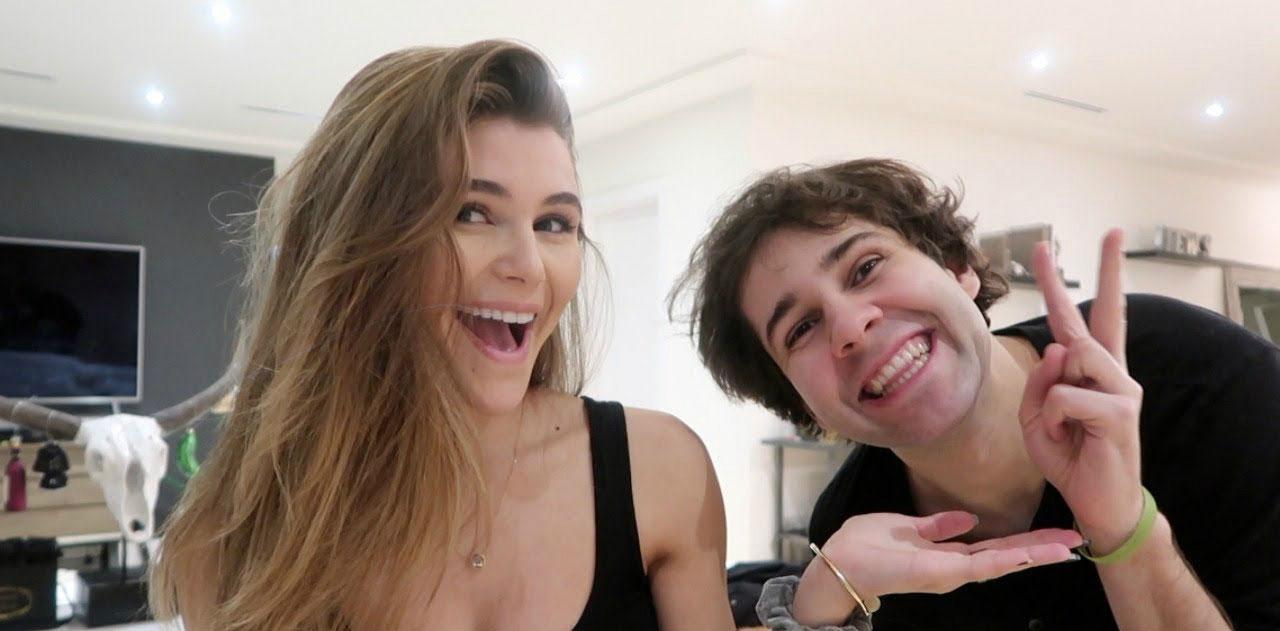 Olivia Jade Parties With YouTube Stars Amid College Scandal - Olivia Jade Giannulli and David Dobrik