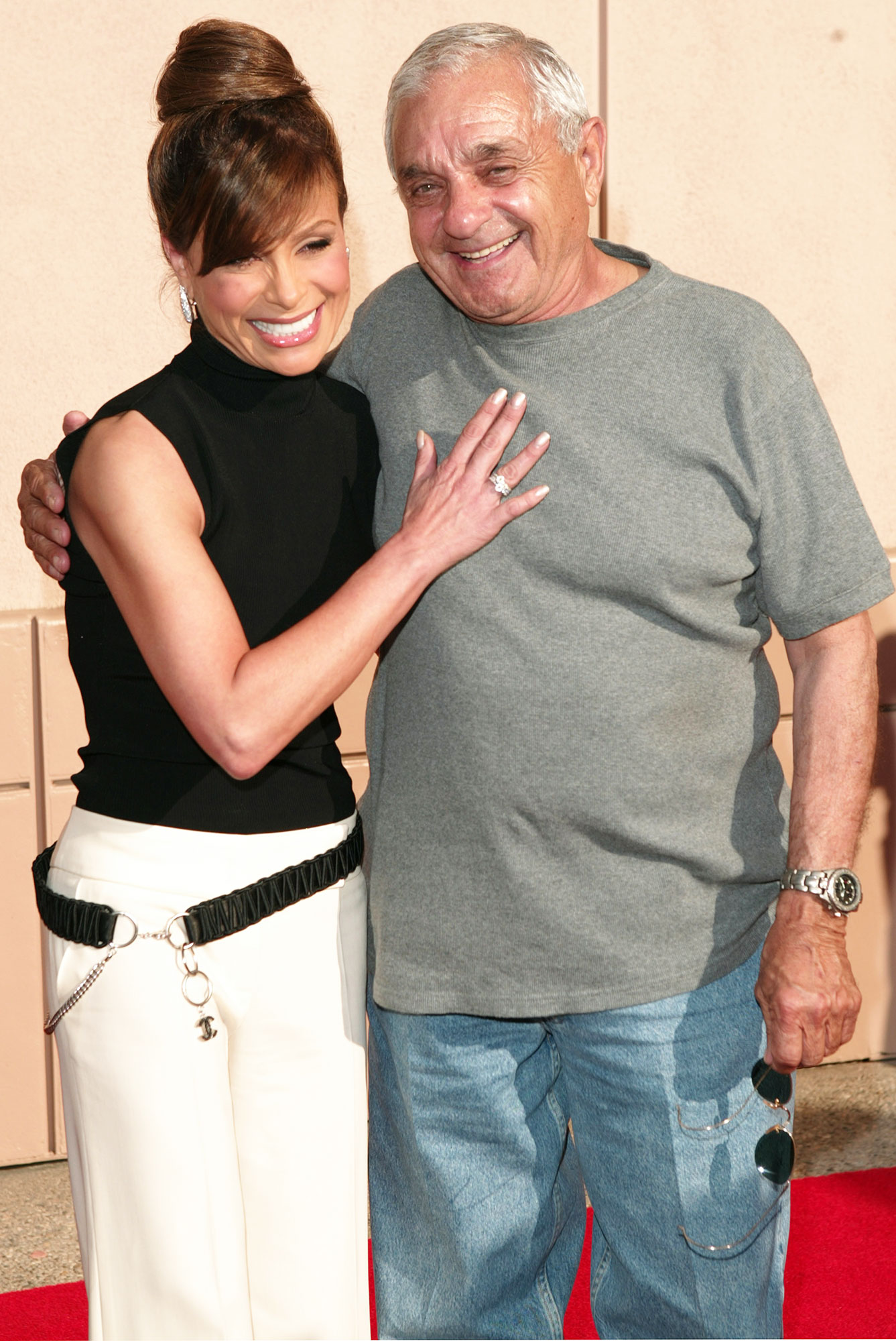 "Paula Abdul father Harry Abdul dies - Paula Abdul and father, Harry during The Academy of Television Arts & Sciences Activities Committee Presents ""American Idol Live"" – Arrivals at ATAS' Leonard H. Goldenson Theatre in North Hollywood, CA, United States."
