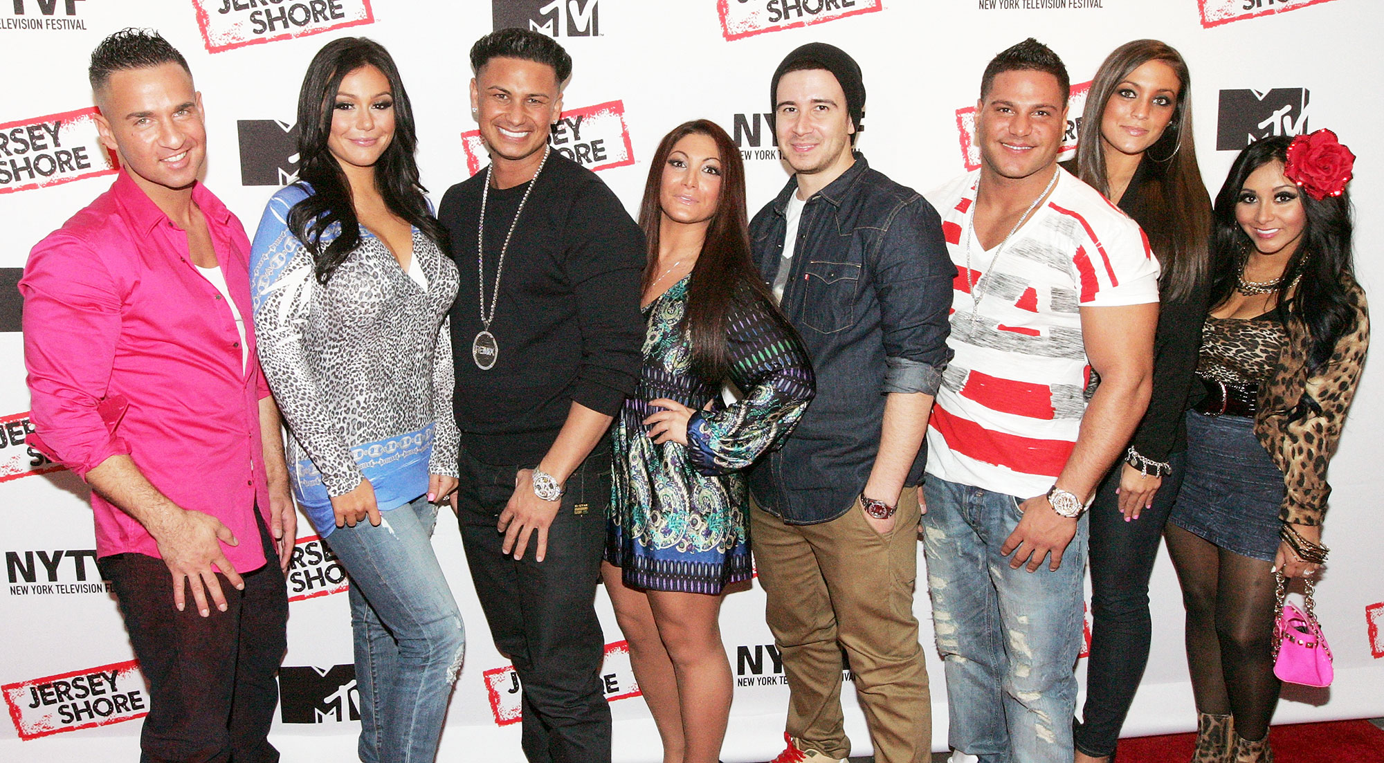 Pauly D Vinny Guadagnino Sammi Giancola Wedding Invite Jersey Shore Cast 2012 - Mike 'The Situation' Sorrentino, Jenni 'JWOWW' Farley, Pauly D, Deena Cortese, Vinny Guadagnino, Ronnie Ortiz-Magro, Sammi Giancola and Nicole 'Snooki' Polizzi attend 'Love, Loss, (Gym, Tan) and Laundry: A Farewell To The Jersey Shore' on October 24, 2012 in New York City.