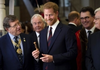 Prince Harry Attends Curry Lunch With Veterans, Says He's 'Very Excited' to Meet Baby Sussex