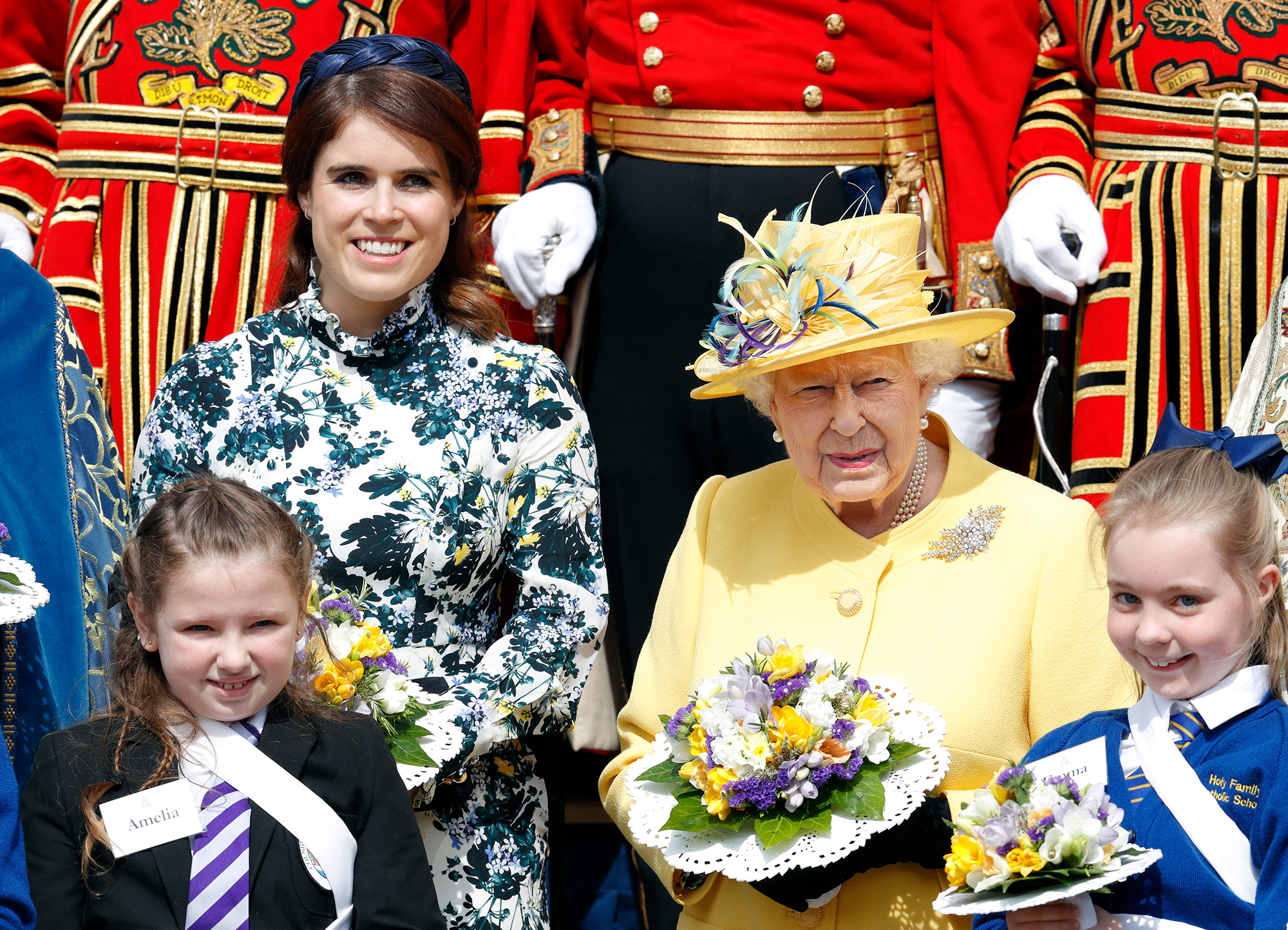 "Princess Eugenie Returns to Scene of Her Wedding - Duchess Sarah Ferguson , otherwise known as Fergie, praised her daughter's philanthropic efforts in a heartfelt Instagram post. ""So proud of Her Majesty and Eugenie at the Maundy Thursday Service at St. George's Chapel today,"" Fergie captioned the sweet photo."