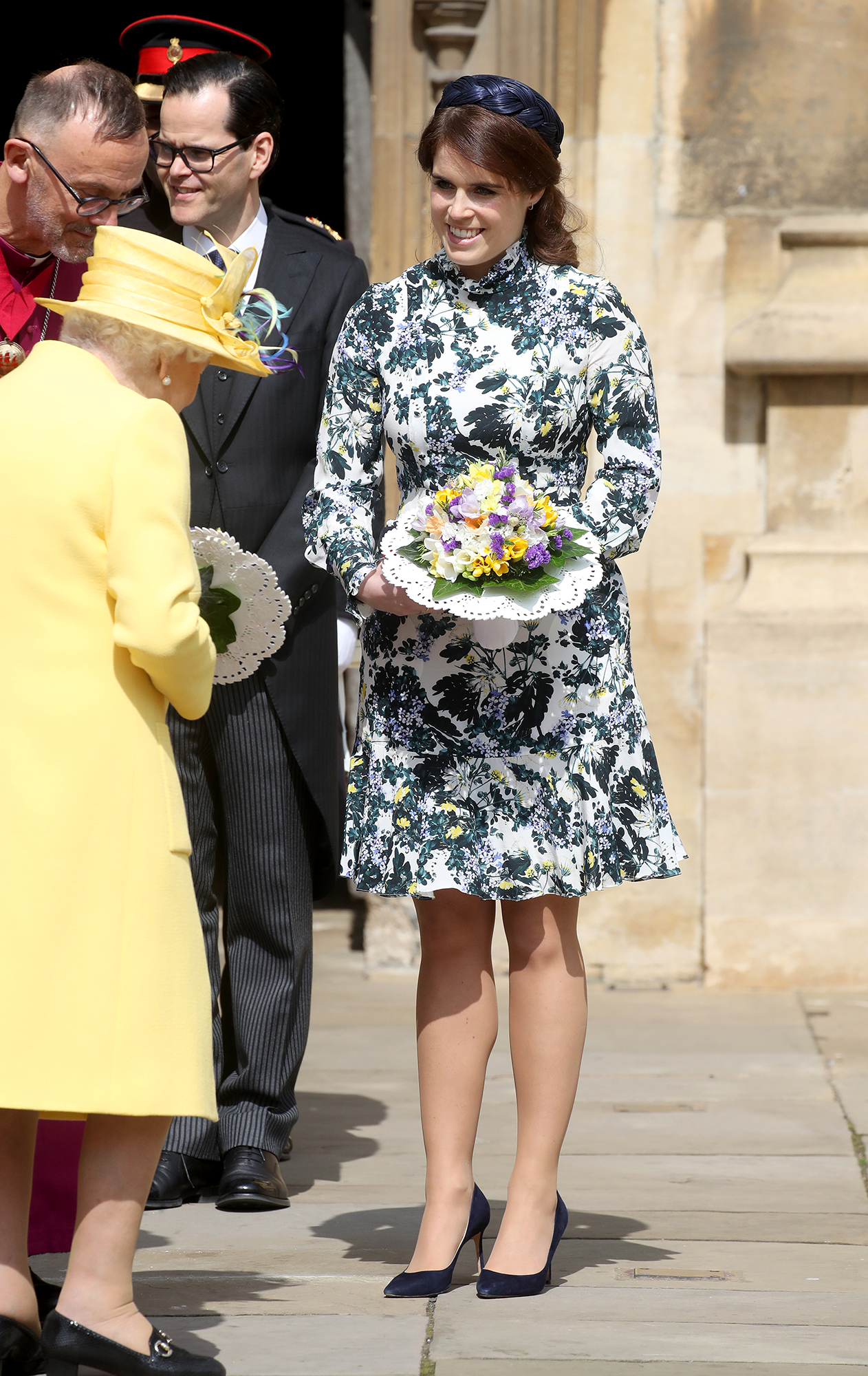 Princess Eugenie Returns to Scene of Her Wedding - Eugenie was all smiles while accompanying her grandmother for the annual outing.