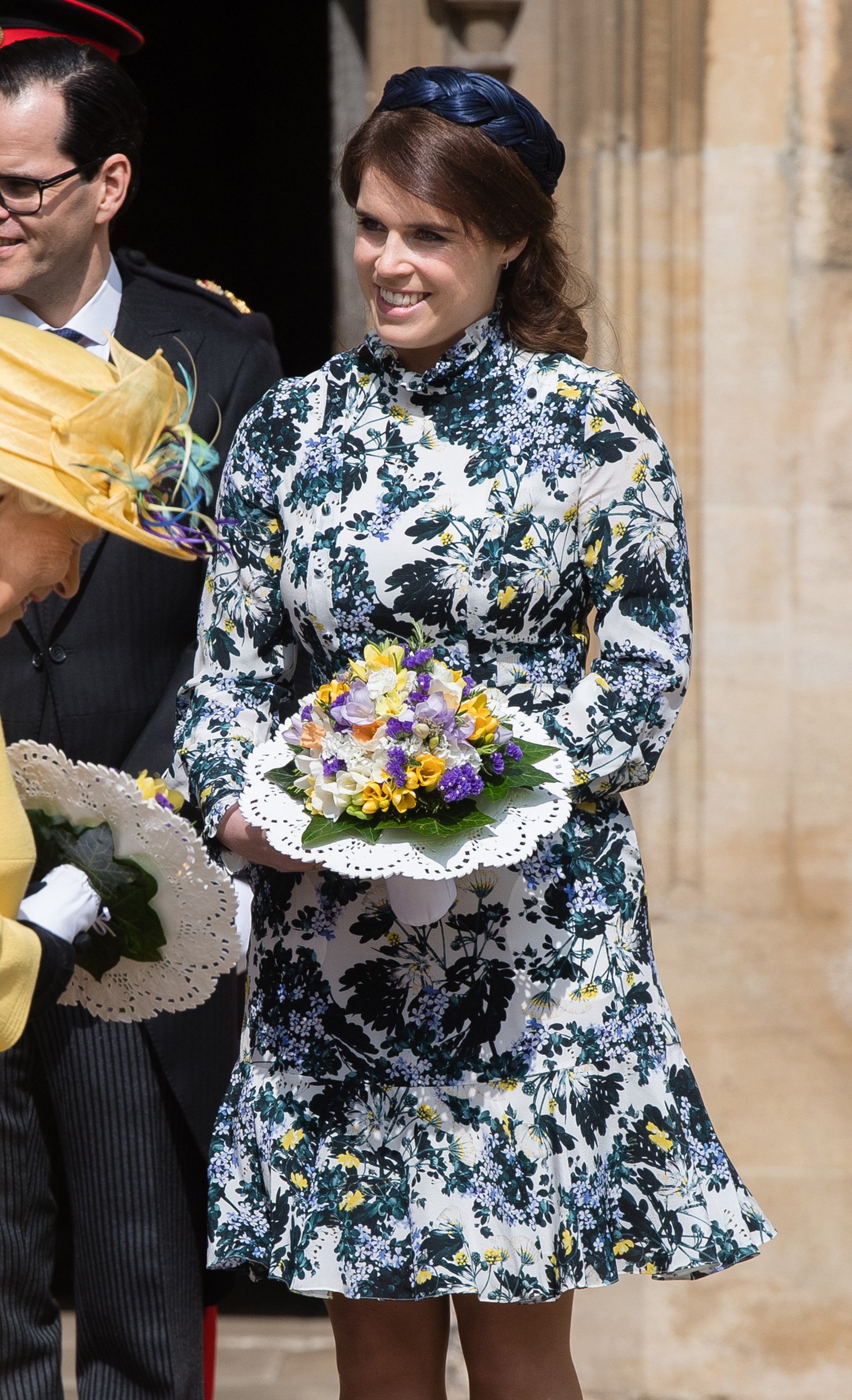 Princess Eugenie Returns to Scene of Her Wedding - Princess Eugenie of York attends the traditional Royal Maundy Service at St George's Chapel on April 18, 2019 in Windsor, England.