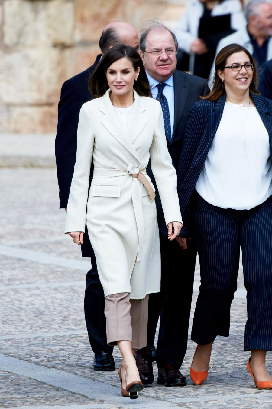Queen Letizia Is Simply Chic in Springy Neutrals