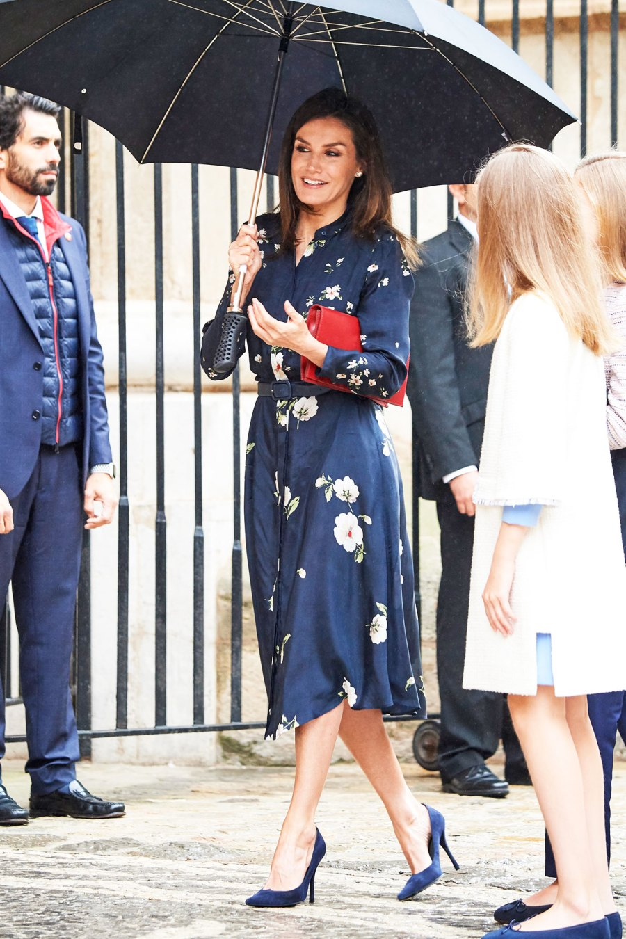 Queen Letizia Stuns in the Chicest Holiday-Appropriate Floral Dress