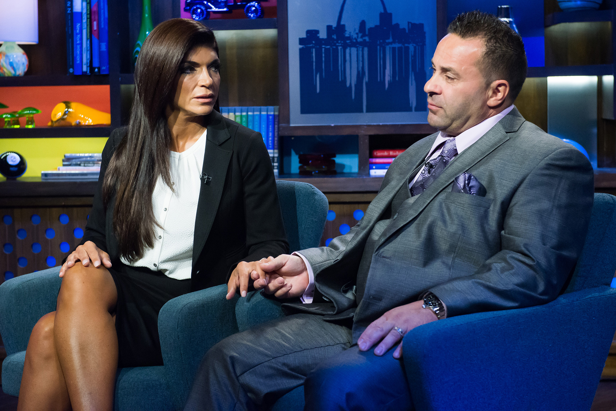 RHONJ Stars on Teresa Giudice Coping With Joe in Custody - Teresa Giudice and Joe Giudice.