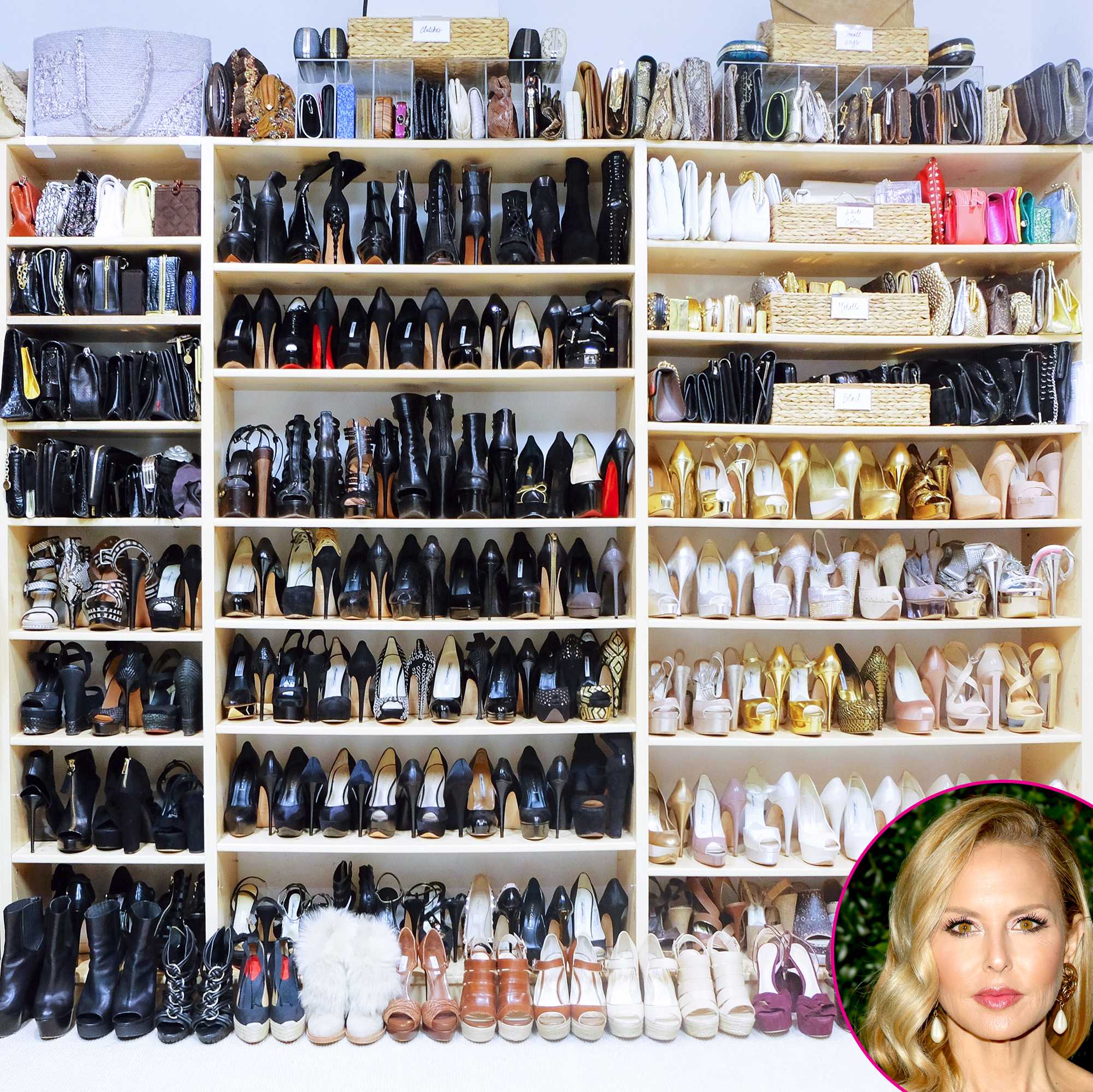 Rachel-Zoe - The stylist definitely gives Decker a run for money in the shoe department: Zoe' s heels don't even fit onto the shelves, spilling over onto the floor!