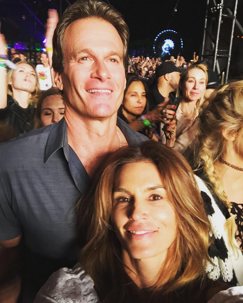 Rande-Gerber-and-Cindy-Crawford-Coachella - The supermodel snuck in a selfie with the Casamigos cofounder as he watched the main stage in 2016.