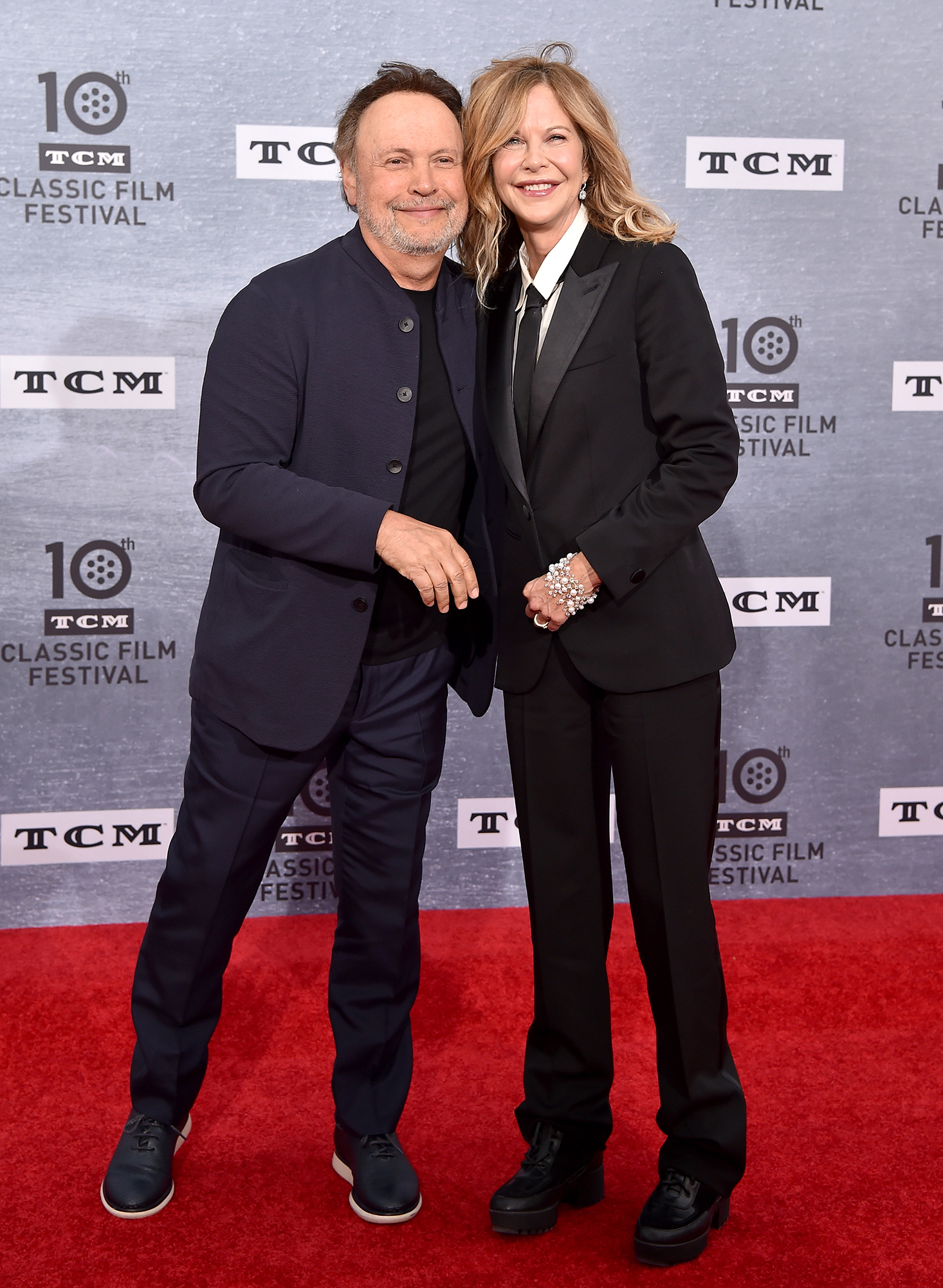 "Rob Reiner Meg Ryan Billy Crystal When Harry Met Sally - Ryan paid tribute to screenwriter Nora Ephron and her late costars Carrie Fisher and Bruno Kirby. ""I think we all wish Nora were here, and Bruno and Carrie,"" she told the audience."