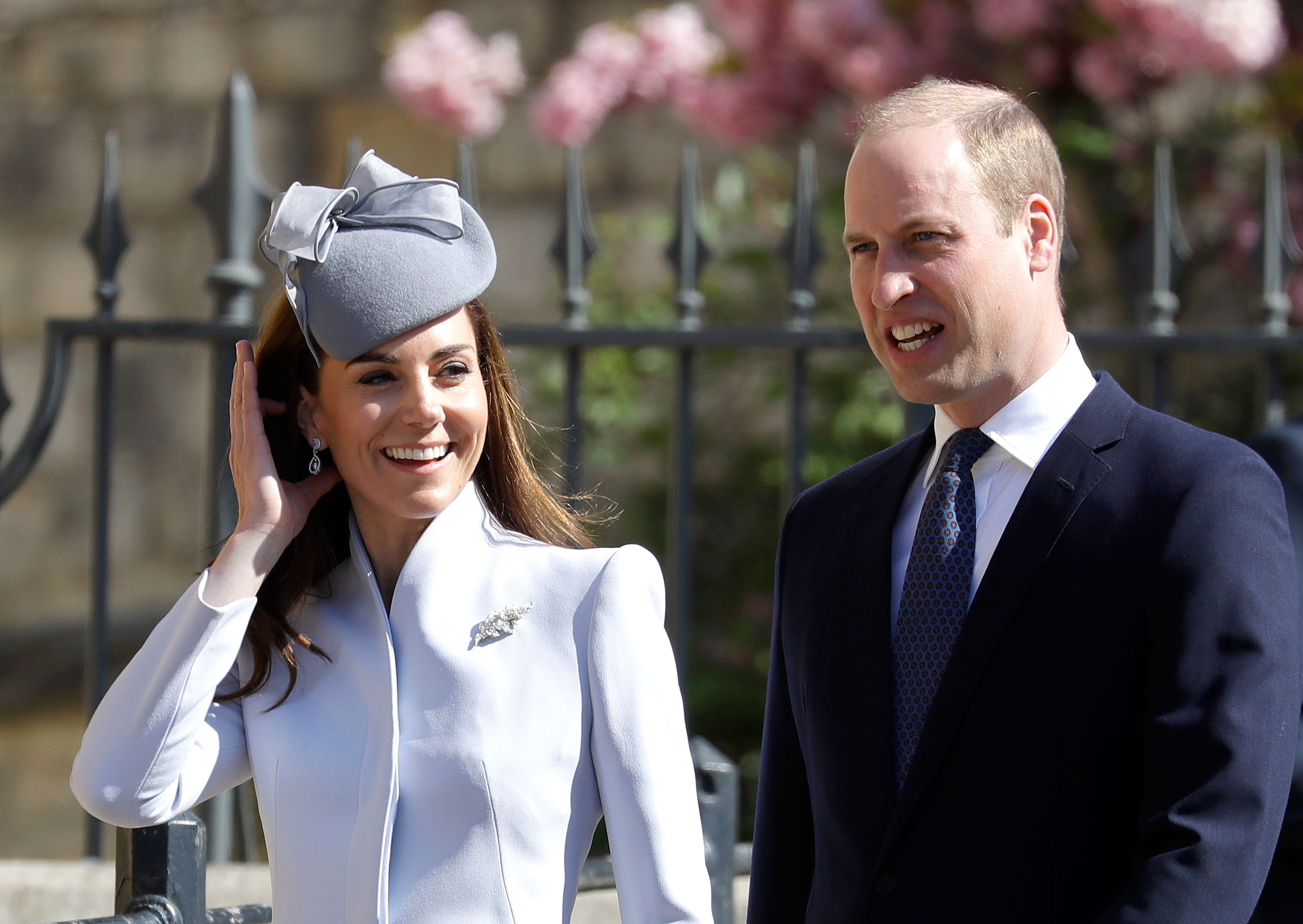 Prince William Kate Middleton Royal Family Celebrate Easter - Prince William, Duke of Cambridge and Catherine, Duchess of Cambridge attend Easter Sunday service at St George's Chapel on April 21, 2019 in Windsor, England.