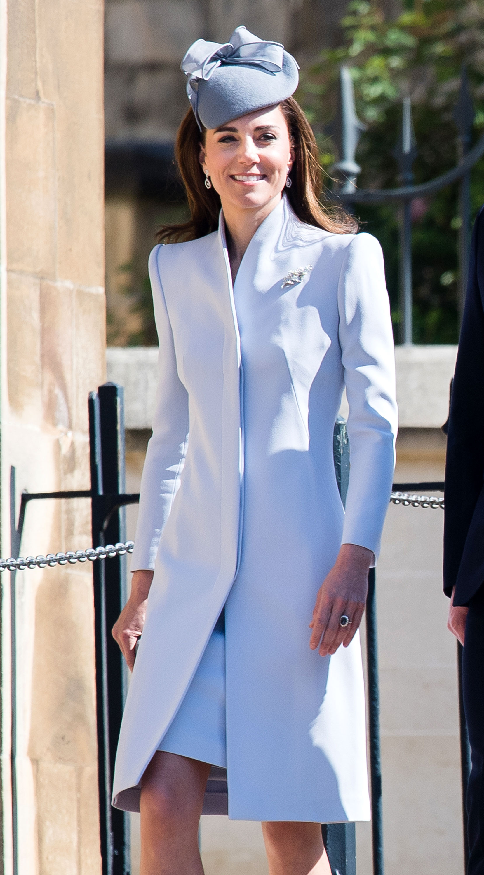 Kate Middleton Royal Family Celebrate Easter - The sun was shining bright as the royal family strolled into St George's Chapel.