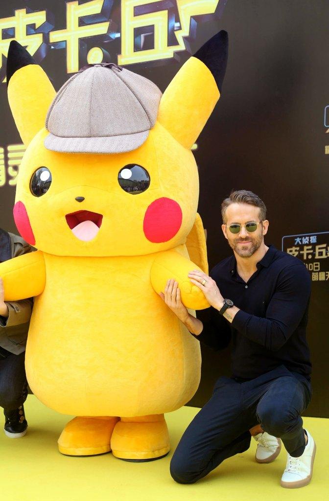 Ryan Reynolds and Pikachu