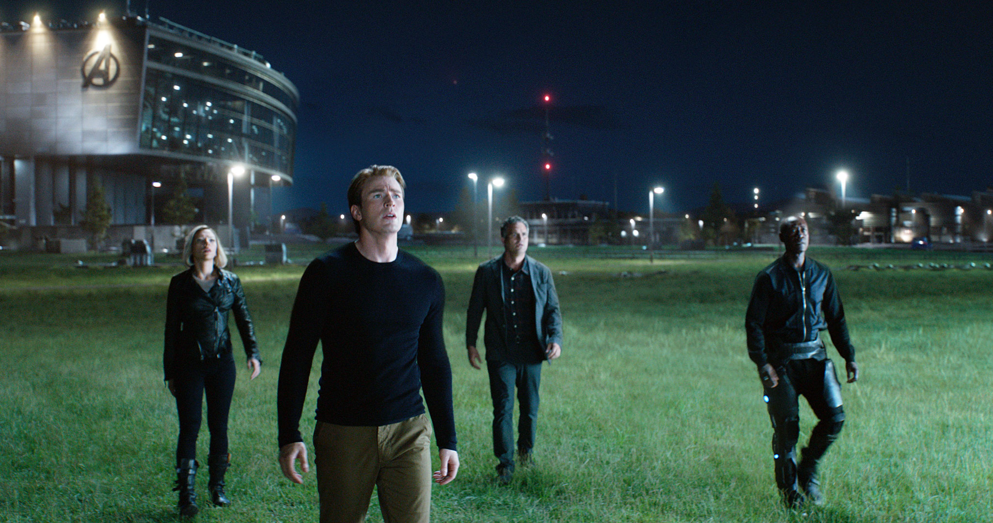 Avengers Endgame Movie Review Scarlett Johansson Chris Evans Mark Ruffalo Don Cheadle - Scarlett Johansson as Black Widow/Natasha Romanoff, Chris Evans as Captain America/Steve Rogers, Mark Ruffalo as Bruce Banner and Don Cheadle as War Machine/James Rhodes in 'Avengers: Endgame.