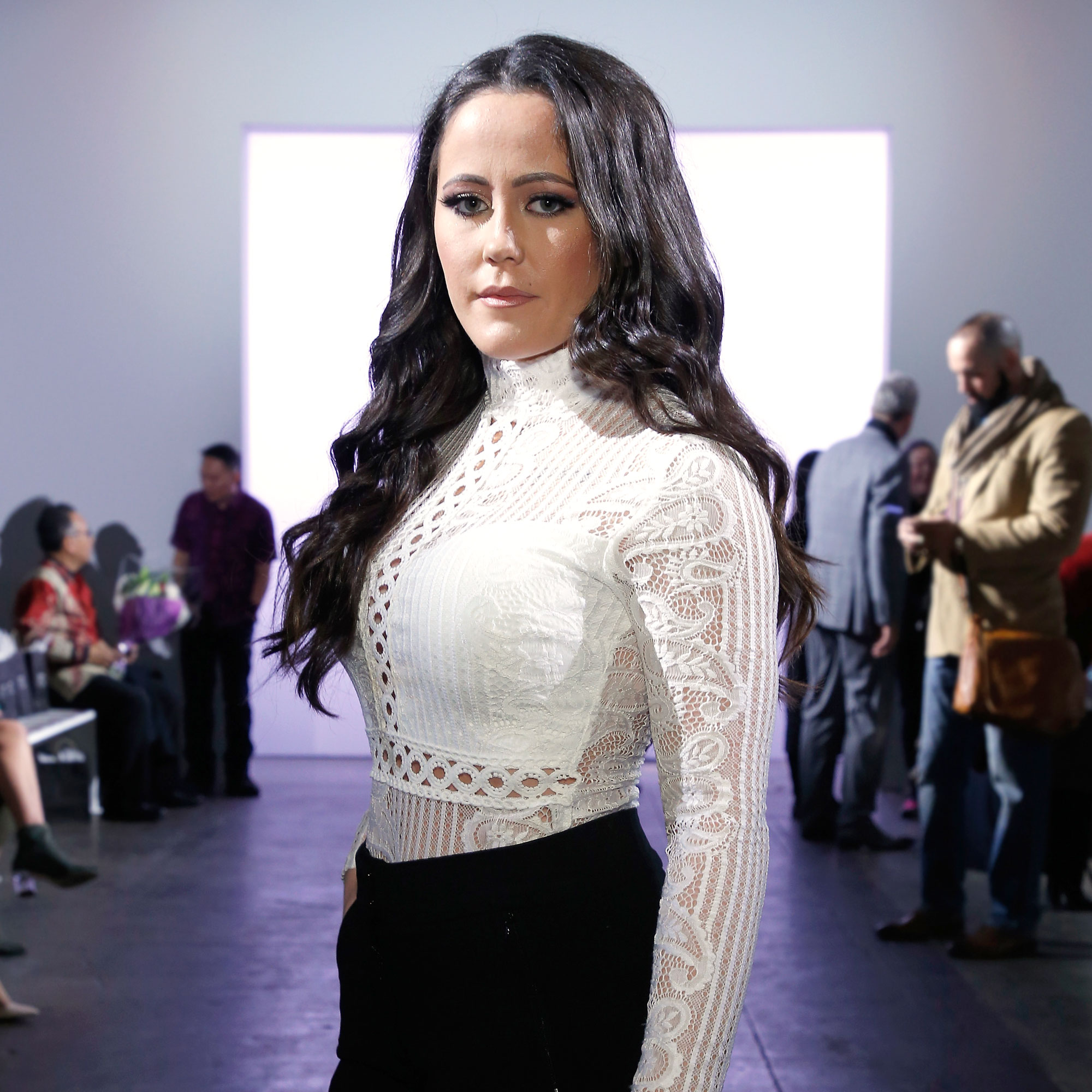Teen Mom 2's Jenelle Evans Had an Ovary Removed - Jenelle Evans attends the Indonesian Diversity FW19 Collections: 2Madison Avenue, Alleira Batik, Dian Pelangi and Itang Yunas front row during New York Fashion Week: The Shows at Industria Studios on February 7, 2019 in New York City.
