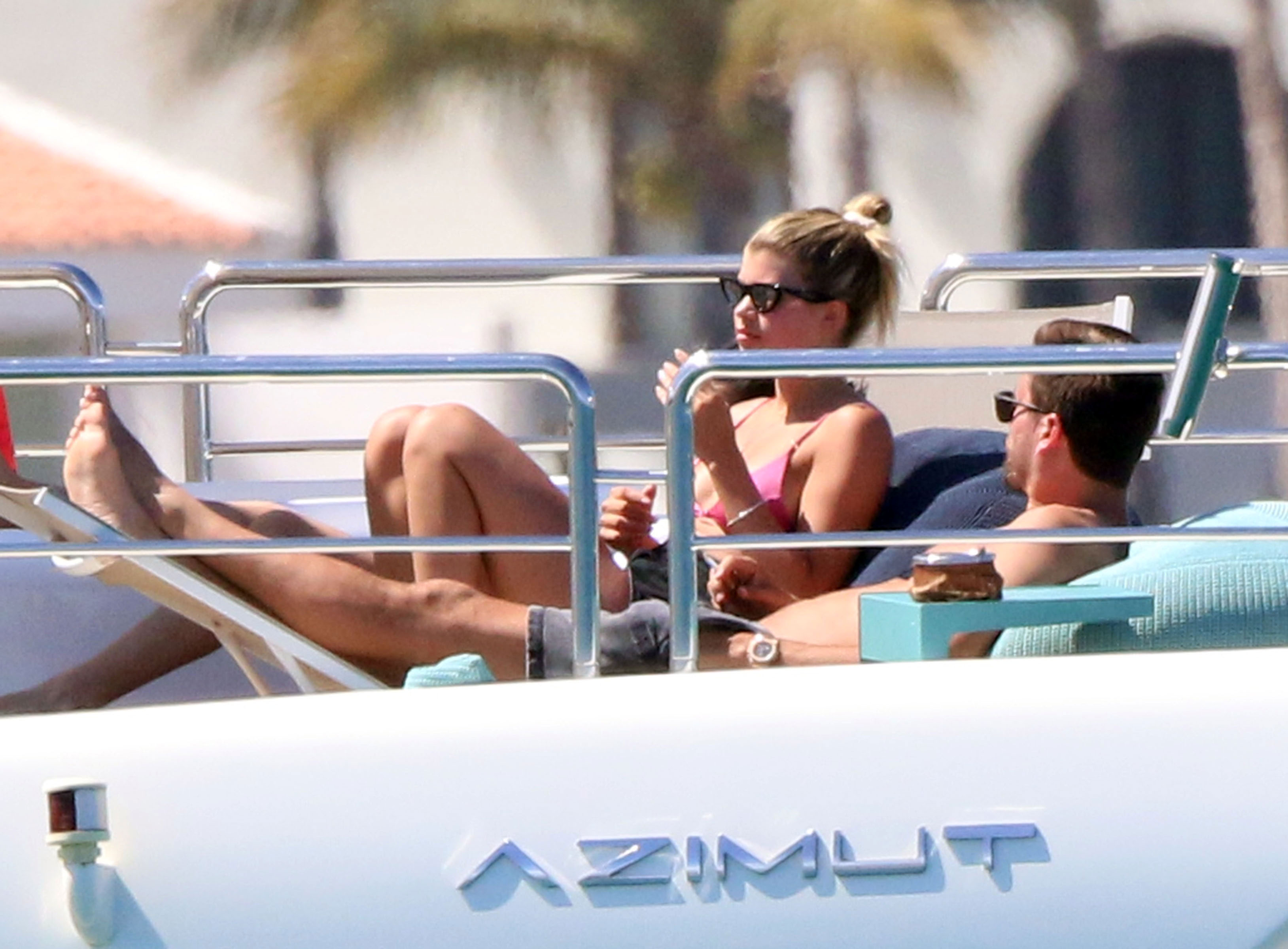 Scott Disick Sofia Richie vacation in Mexico - The duo looked relaxed as they lounged aboard a yacht and soaked up rays.