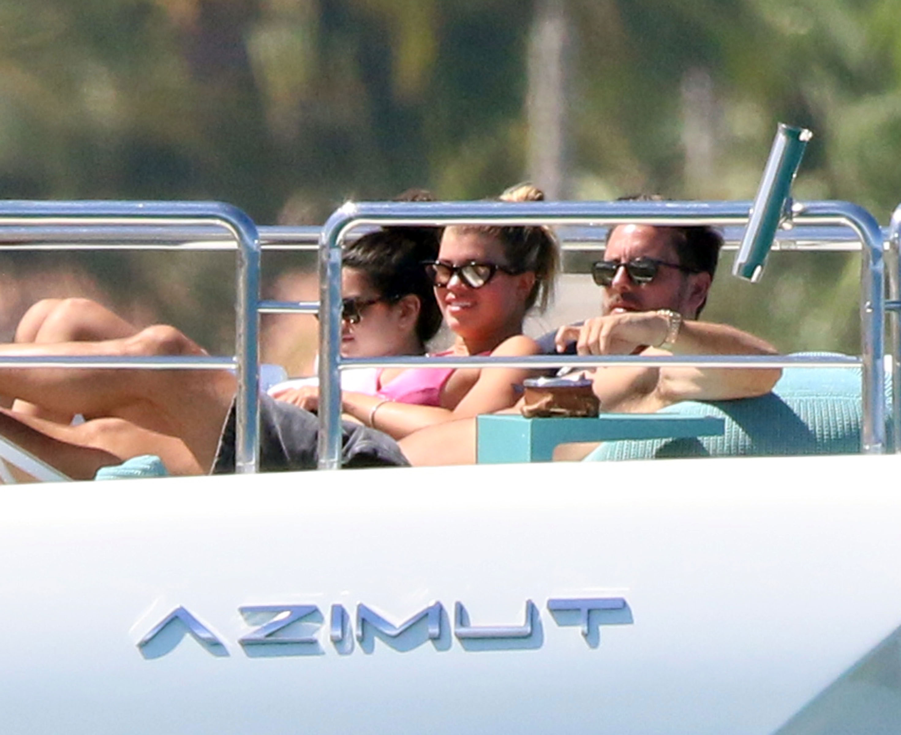 Scott Disick Sofia Richie vacation in Mexico - Richie was all smiles on the voyage.