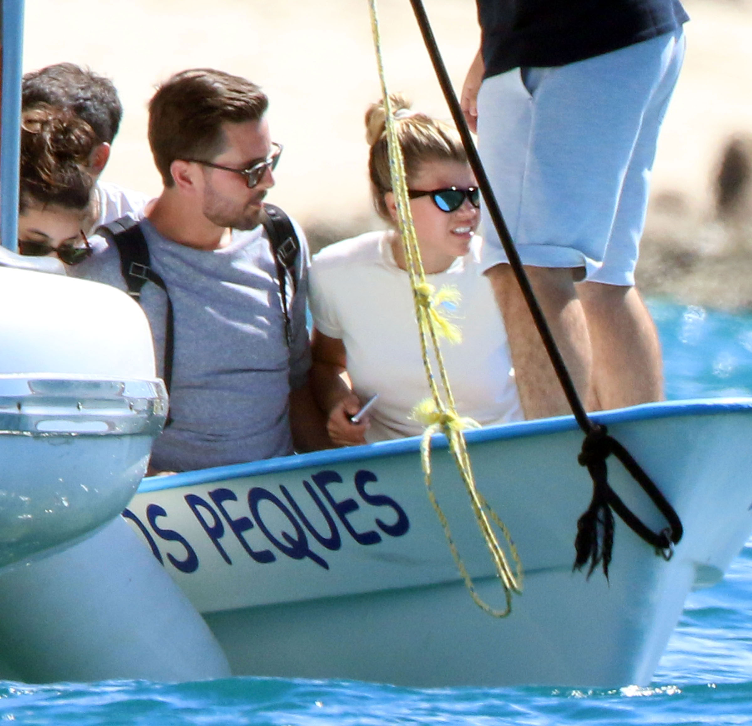 Scott Disick Sofia Richie vacation in Mexico - Disick and Richie stayed close together during their day out at sea.