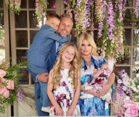 Jessica Simpson Cradles New Baby Birdie in Easter Family Photo