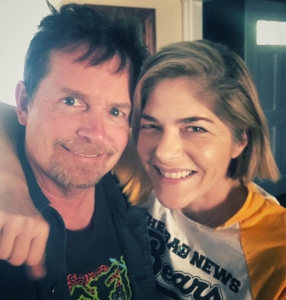 Selma Blair, Michael J. Fox Take Selfie: He Guided Me With My MS Diagnosis