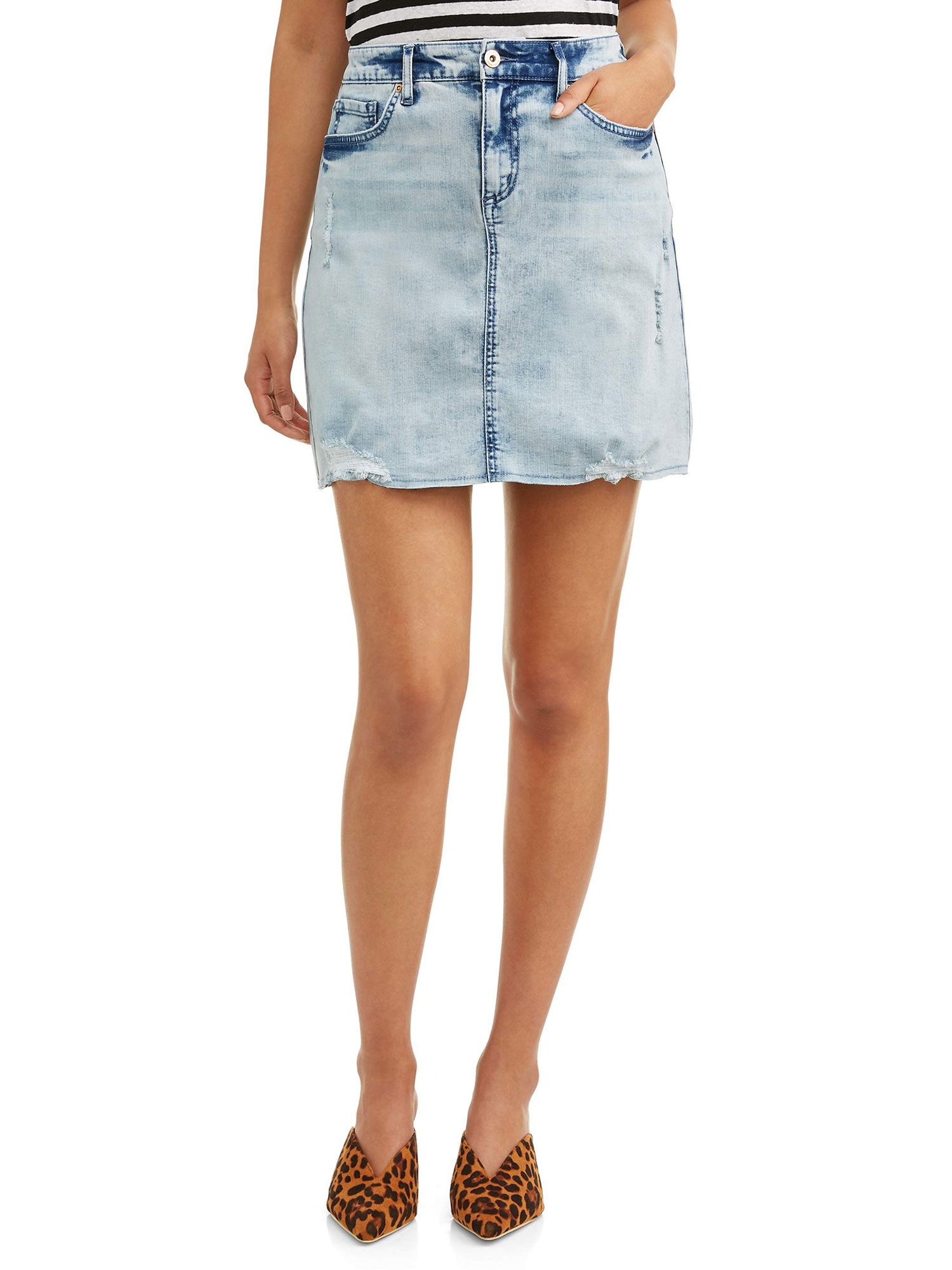 Sofia Vergara Spring Collection walmart - Just in time for the start of festival season, this little jean skirt is a must. $19.50, walmart.com