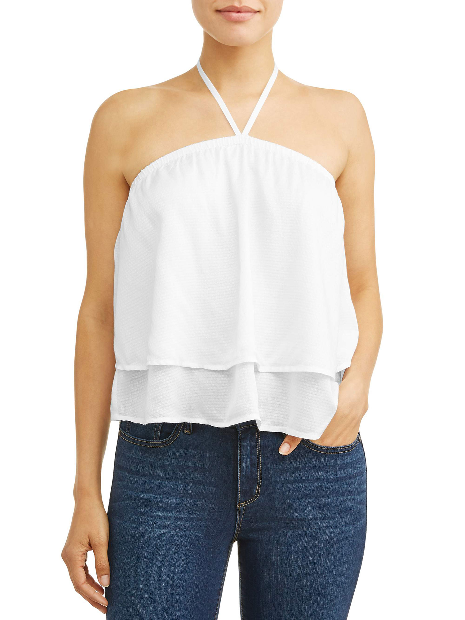 Sofia Vergara Spring Collection walmart - This clean and simple white halter top is anything but boring.