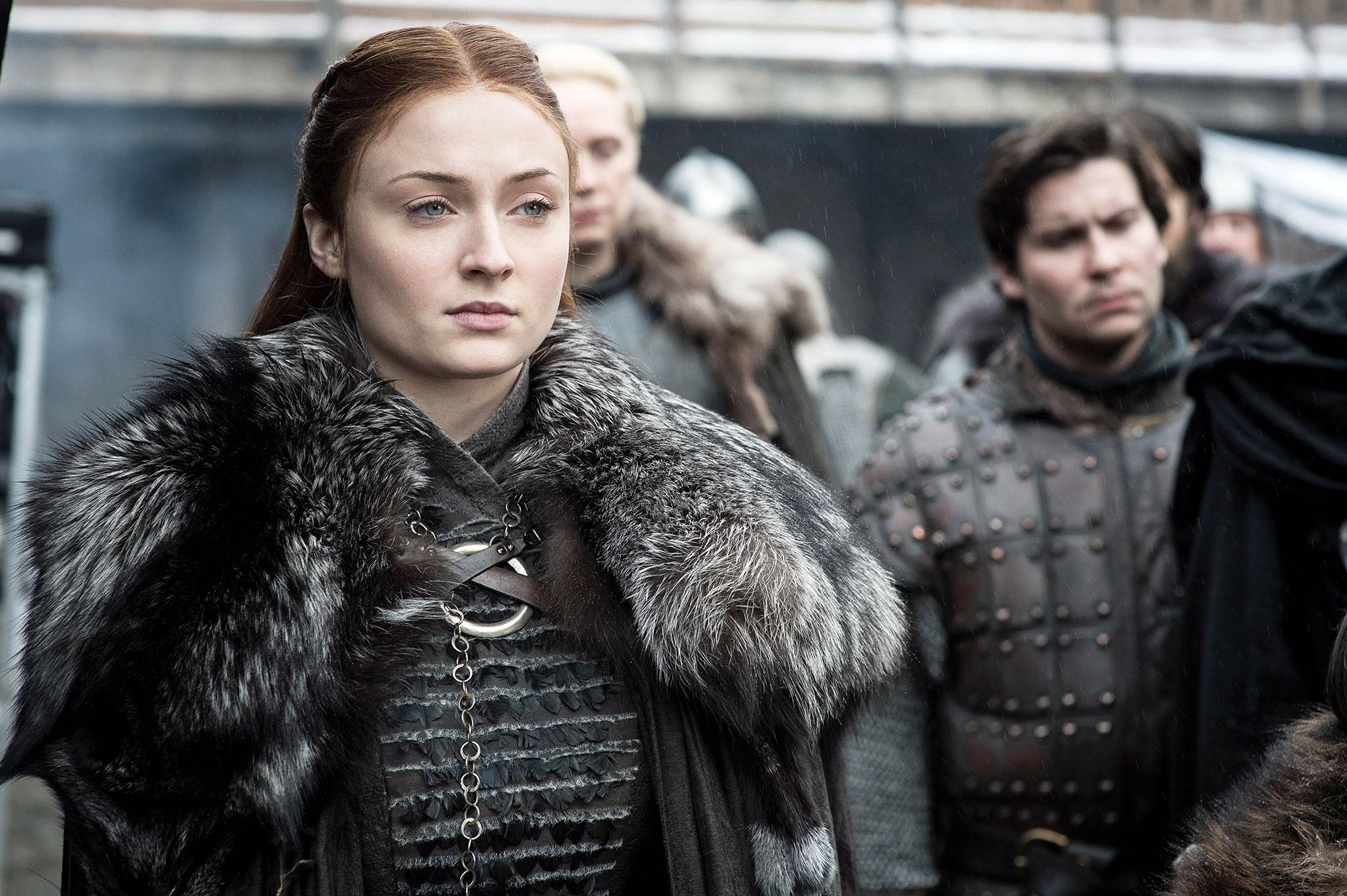 Game of Thrones Season 8 Premiere Sophie Turner Sansa Stark
