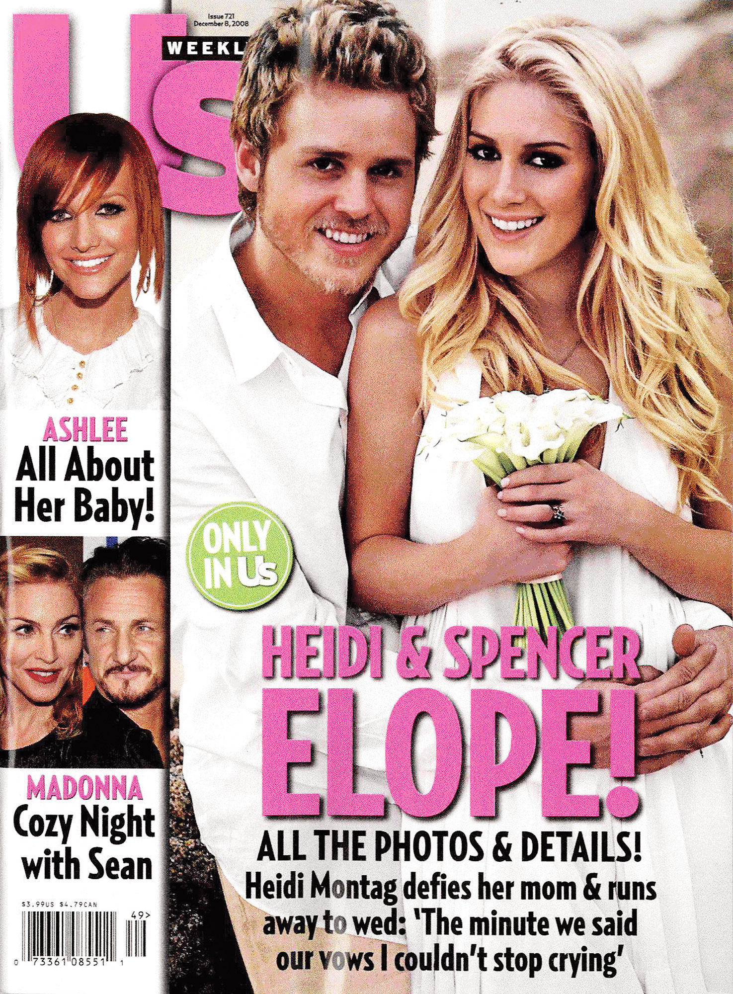 "Speidi Turns 10 Heidi Montag Spencer Pratt Us Weekly Cover - Us broke the news that Heidi and Spencer decided to elope last minute in Cabo San Lucas, Mexico. ""I was just putting it out there, how easy it would be with no drama,"" Spencer exclusively told Us after they tied the knot."