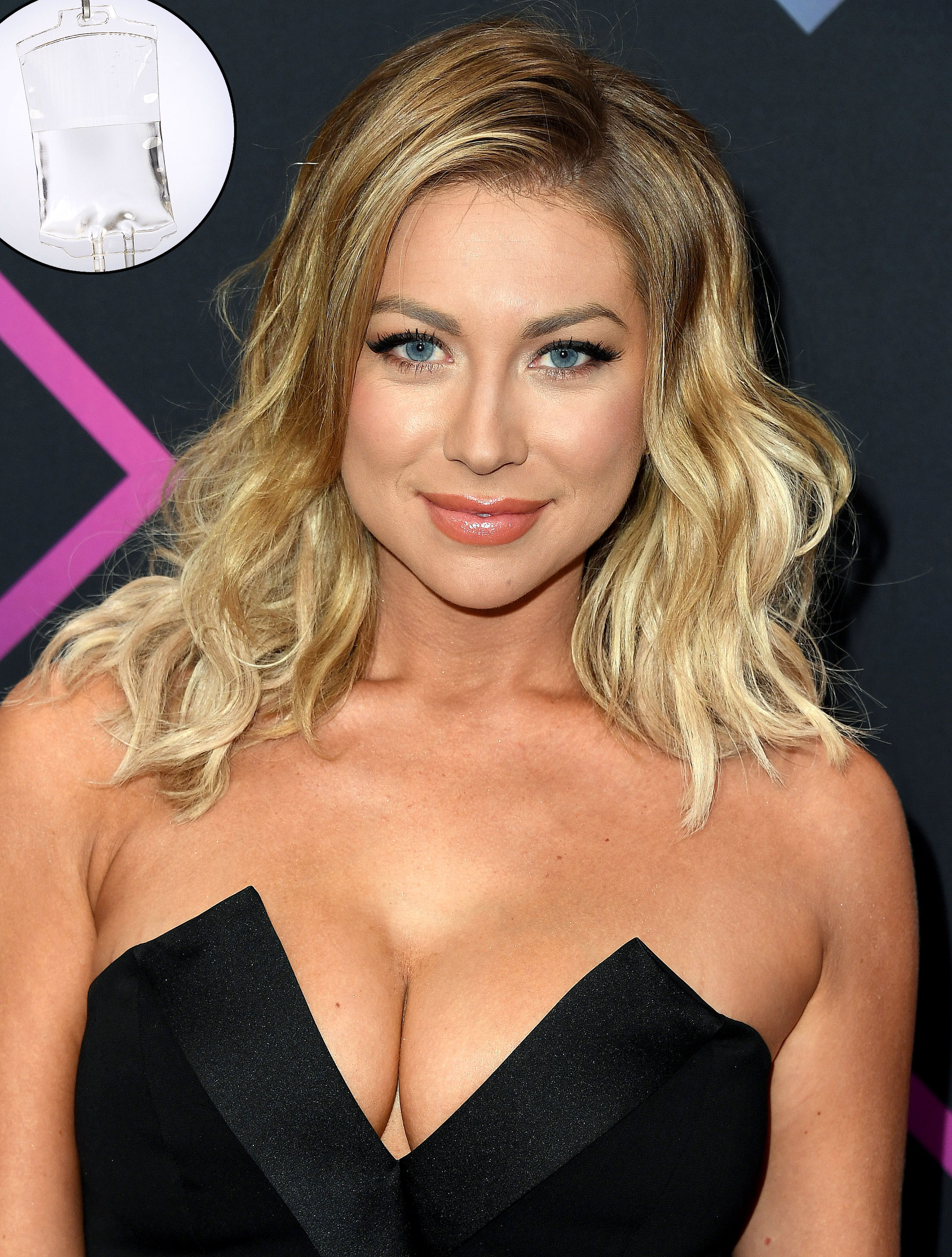 """Stassi Schroeder Stars' Hangover Cures IV drip - The Next Level Basic author credits IV drips and hangover patches for her ability to throw 'em back. """"I turned 30 and I can't hang as much as I can,"""" she said on SiriusXM's The Michelle Collins Show in April 2019. """"Like, I definitely get IVs on the reg. I get them to come to my house. ... For a hangover, it really does help."""" She also told a fan in February 2018 that she has another trick, tweeting , """"I also use hangover patches, so there's that."""""""