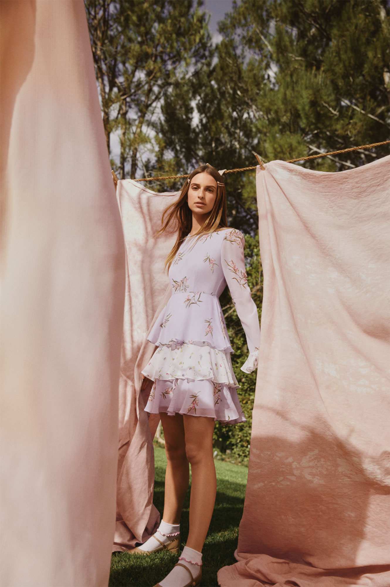 """Talita von Furstenberg - """"I was really inspired by nature and my own personal style,"""" von Furstenberg dished. """"Growing up in L.A., I always wore dresses and super easy, summery clothes... stuff that you could kind of throw on and dress up however you want. That's kind of what TVF for DVF is and you can wear the pieces in the summer, you can wear them on the beach or you can also wear them on the street and you don't need to think about it too much. I think the TVF for DVF girl is a girl who wants to look comfortable, confident and happy and is really effortless, on the go, flirty and fun, but still feminine,"""" she explained."""
