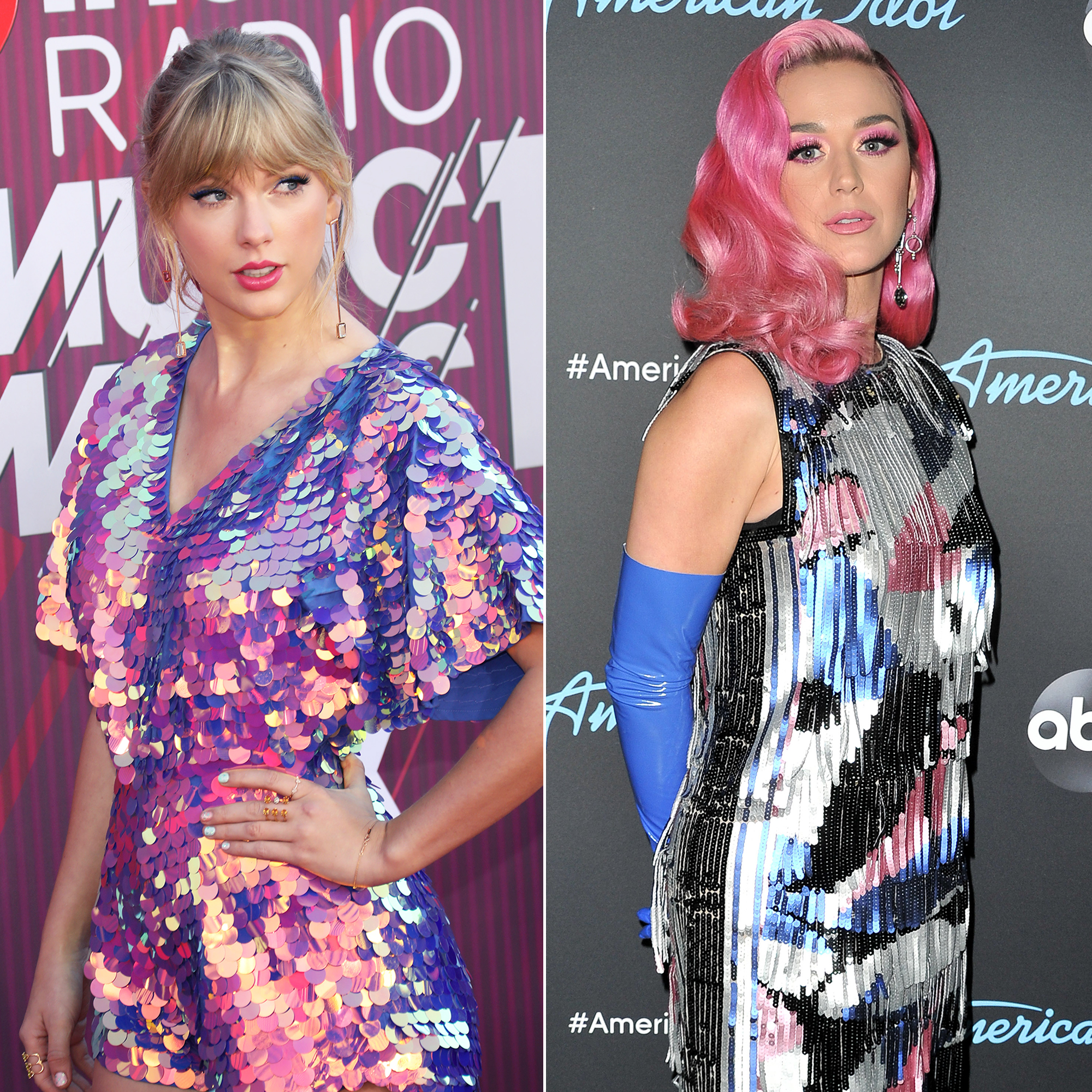 "Taylor Swift Feuds - The pop stars' ""Bad Blood"" began when Swift claimed Perry poached some of her backup dancers in 2014. Perry sent Swift an actual olive branch in May 2018, and the following March, the ""Swish Swish"" singer said she's ""open"" to collaborating with Swift ."