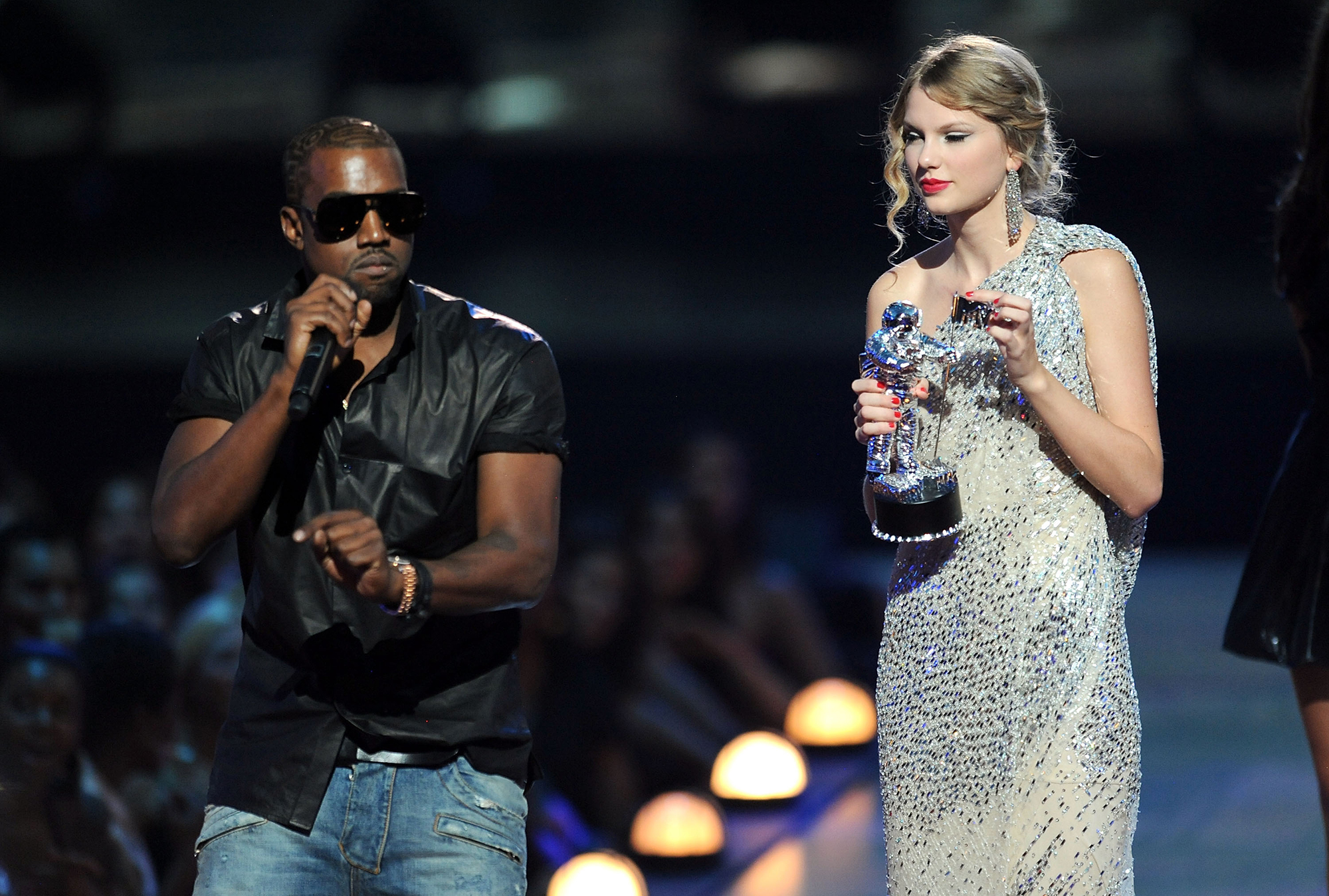 "Taylor Swift Feuds - West first clashed with Swift at the 2009 MTV Video Music Awards when he crashed her acceptance speech to say Beyoncé deserved Swift's award. The musicians buried the hatchet long enough for Swift to present the rapper with the MTV Video Vanguard Award at the 2015 VMAs, but the feud reignited in February 2016 when West rapped in his track ""Famous"" that he ""made that bitch famous,"" referring to Swift."