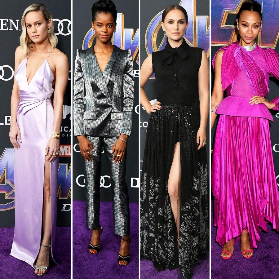 Brie Larson, Letitia Wright, Natalie Portman, and Zoe Saldana Avengers Premiere