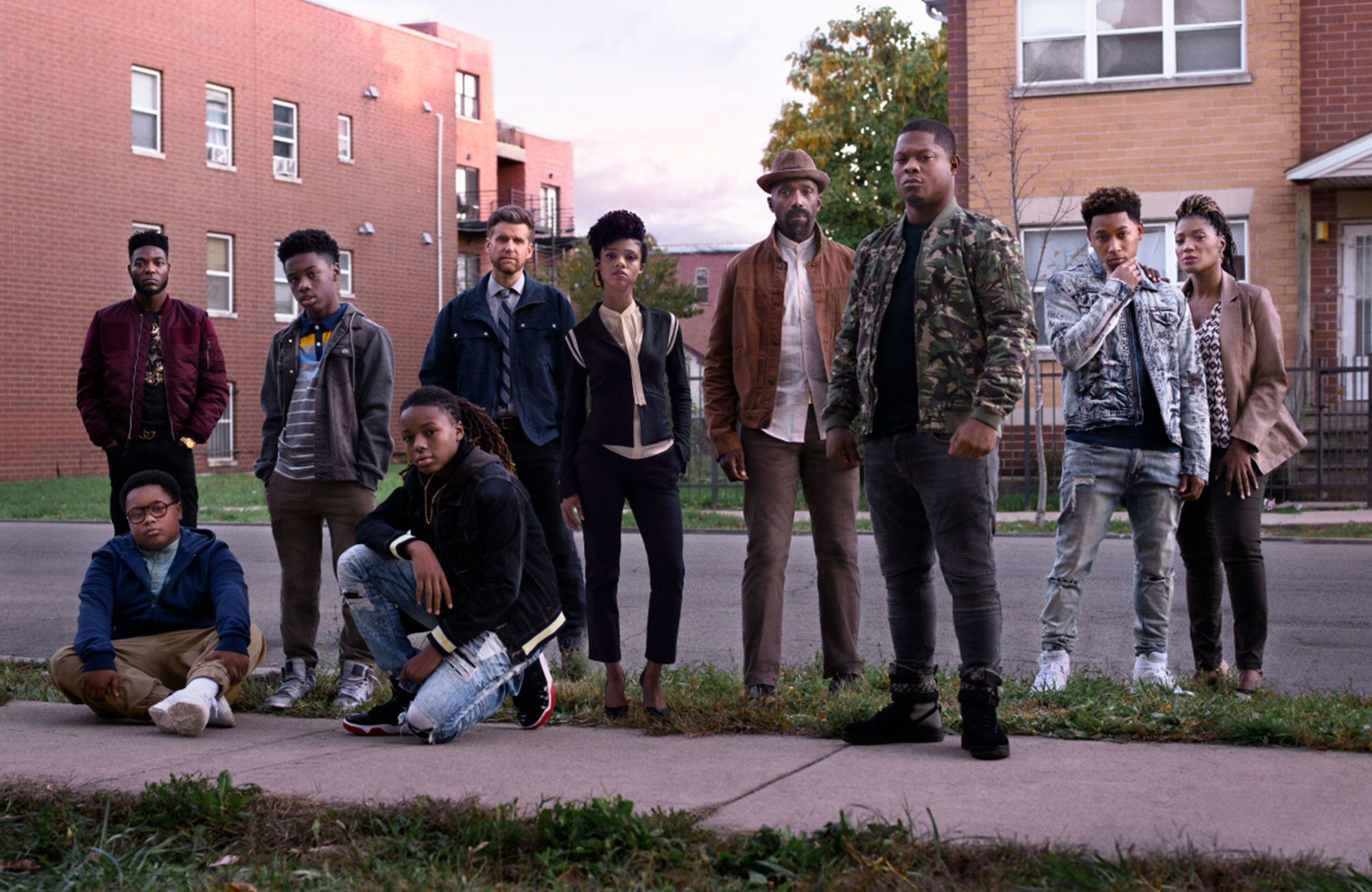 Barton Fitzpatrick as Reg, Alex R. Hibbert as Kevin, Shamon Brown Jr. as Papa, Michael Epps as Jake, Armando Riesco as Detective Cruz, Tiffany Boone as Jerrika, Ntare Guma Mbaho Mwine as Ronne, Jason Mitchell as Brandon, Jacob Latimore as Emmett and Yolanda Ross as Jada in THE CHI - Lena Waithe 's Showtime drama returns following Jason Mitchell 's Brandon as he tries to get his food truck business up and running while balancing his relationship with Tiffany Boone 's Jerrika. (Sunday, April 7, 10 p.m. ET)