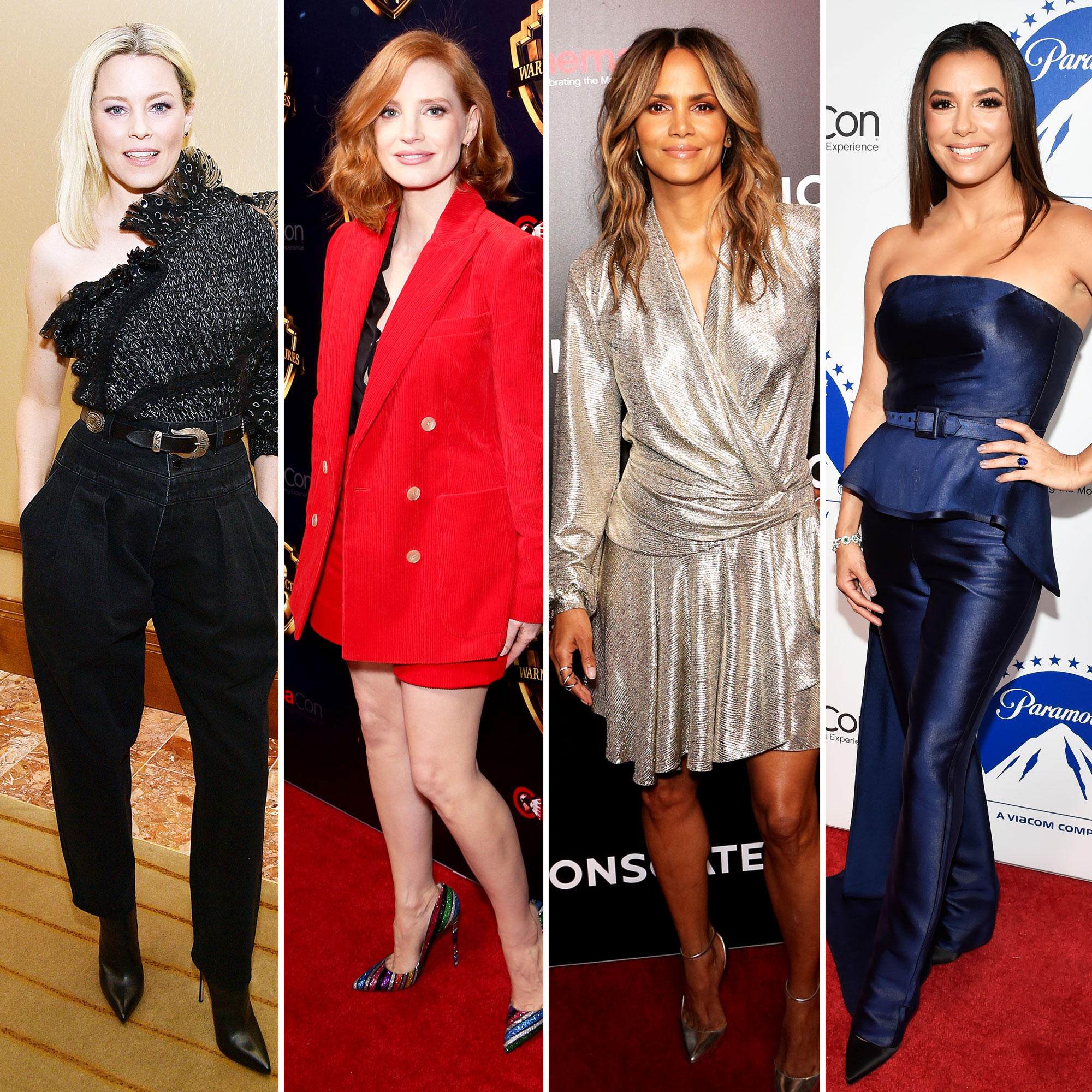 The Stars Are Bringing Their Style A-Game to CinemaCon Elizabeth Banks, Jessica Chastain, Halle Berry and Eva Longoria - Elizabeth Banks, Jessica Chastain, Halle Berry and Eva Longoria