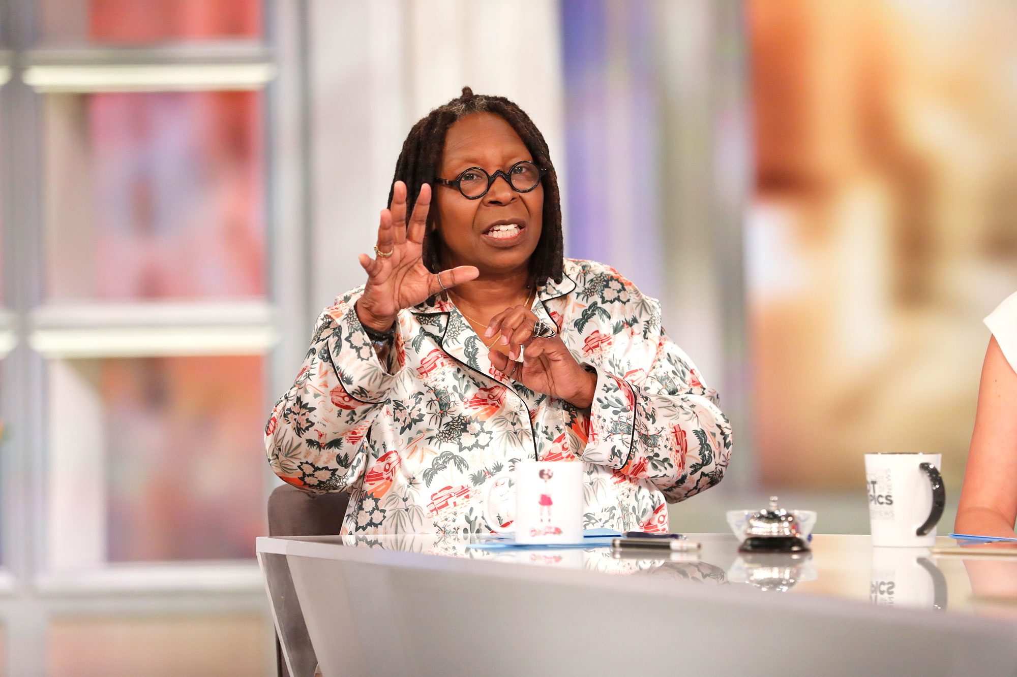 "Whoopi Goldberg She's 'Too Old'! Feuds, Friendships and More Shocking Revelations from 'The View' Tell-All - A View executive told Setoodeh that Goldberg hates the cover of the book ""because it featured an illustration of her sitting at the same table as Rosie."""