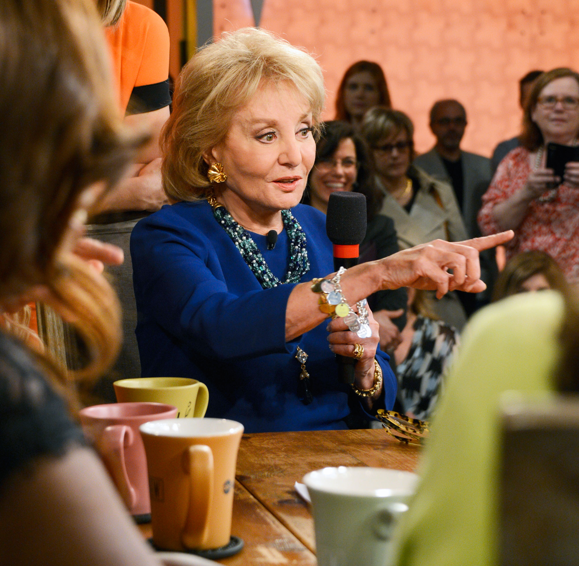 "Barbara Walters She's 'Too Old'! Feuds, Friendships and More Shocking Revelations from 'The View' Tell-All - THE VIEW – 5/15/14 – For the first time in television history, all 11 co-hosts of ABC's ""The View,"" present and past, shared the same stage, live, THURSDAY, MAY 15 on ABC to celebrate the shows creator Barbara Walters."