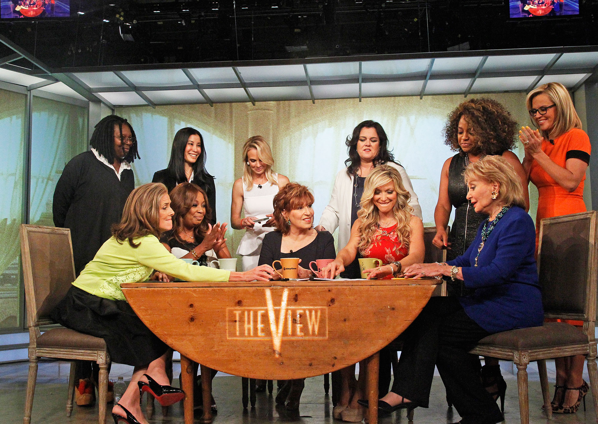 Barbara Walters Rosie O'Donnell She's 'Too Old'! Feuds, Friendships and More Shocking Revelations from 'The View' Tell-All - Executives told O'Donnell they couldn't meet her $5 million salary requirement so that she'd leave the show after she publicly slammed the program's news division.