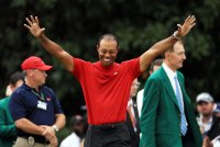 Tiger Woods Celebrates Masters Win