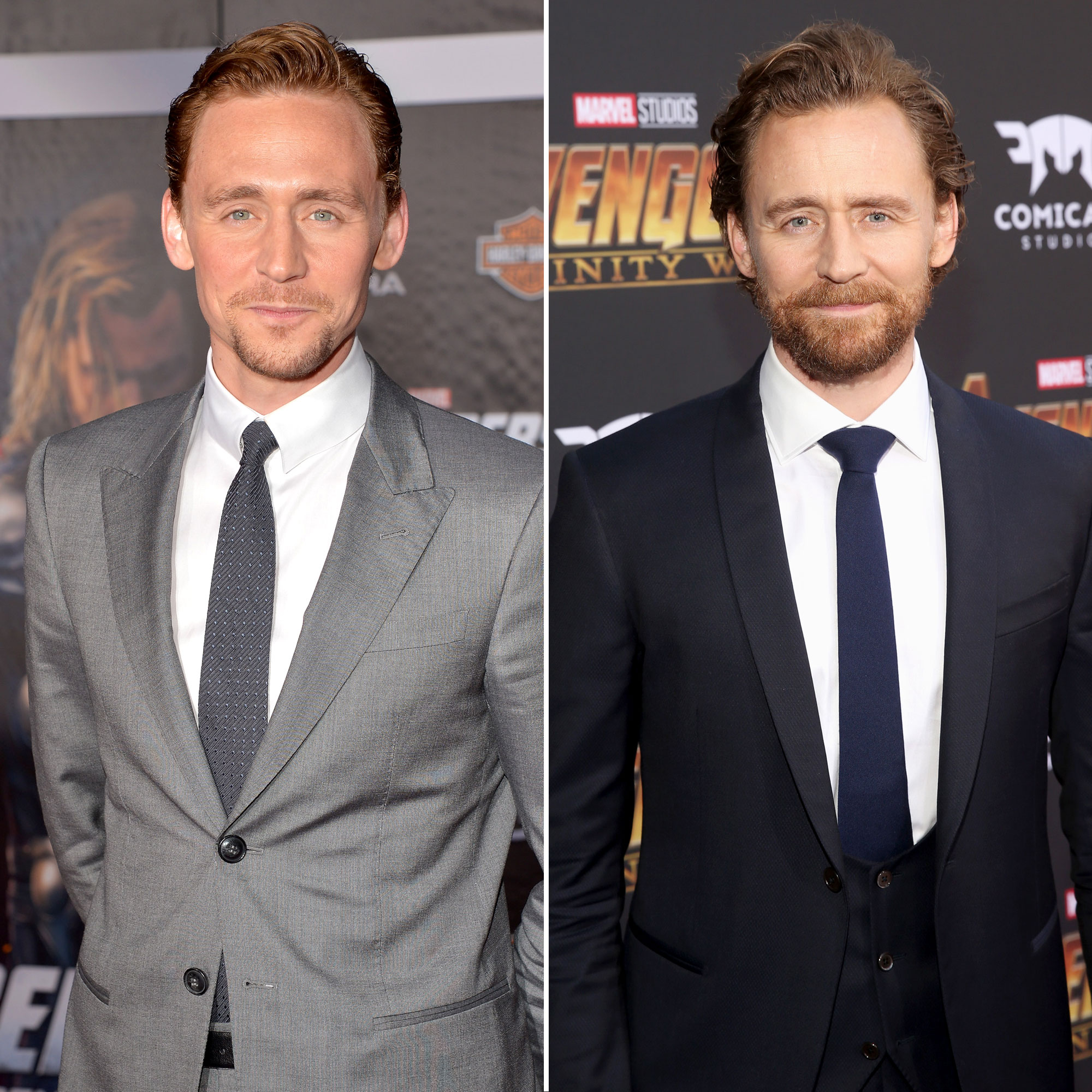 Tom Hiddleston Avengers Premiere First Super Red Carpet to Their Last - Taylor Swift 's ex, who got his big career break with 2011's Thor , skipped the Endgame premiere so as not to spoil its ending, but he looked much the same at the Infinity War premiere in 2018 as he did in 2012 — plus a little extra facial hair.