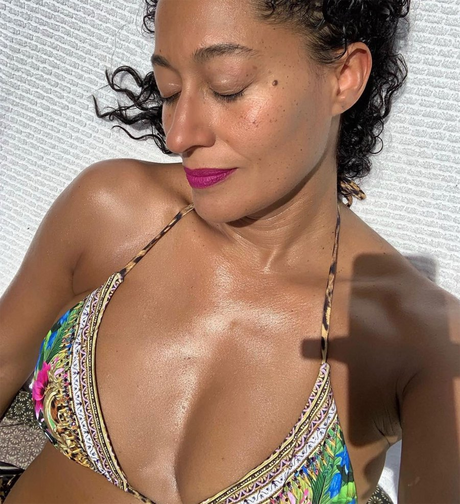 Tracee Ellis Ross Makes Her Bikini Pop With an Unexpected Makeup Move