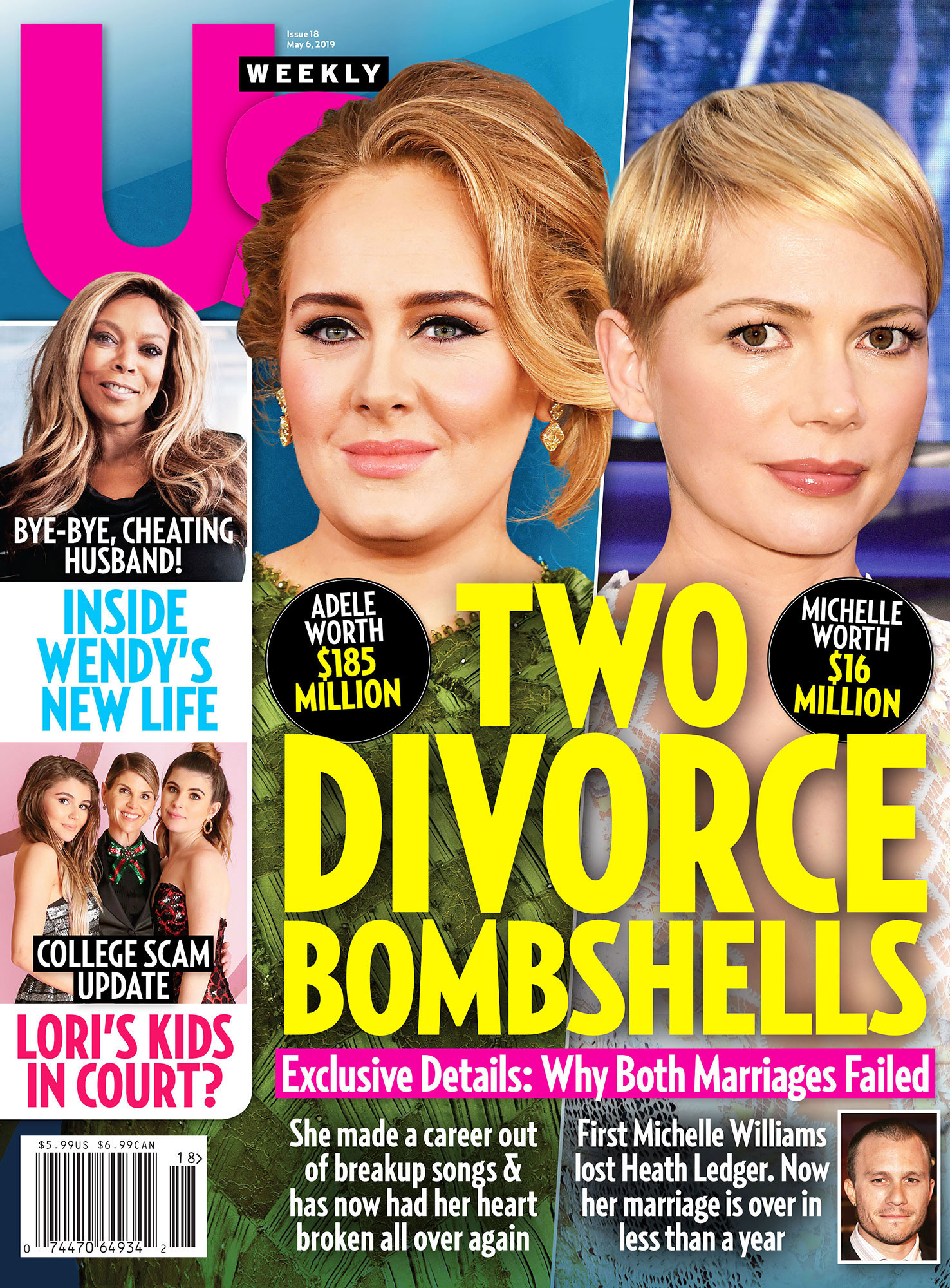 Us Weekly Cover Divorce Adele Michelle Williams