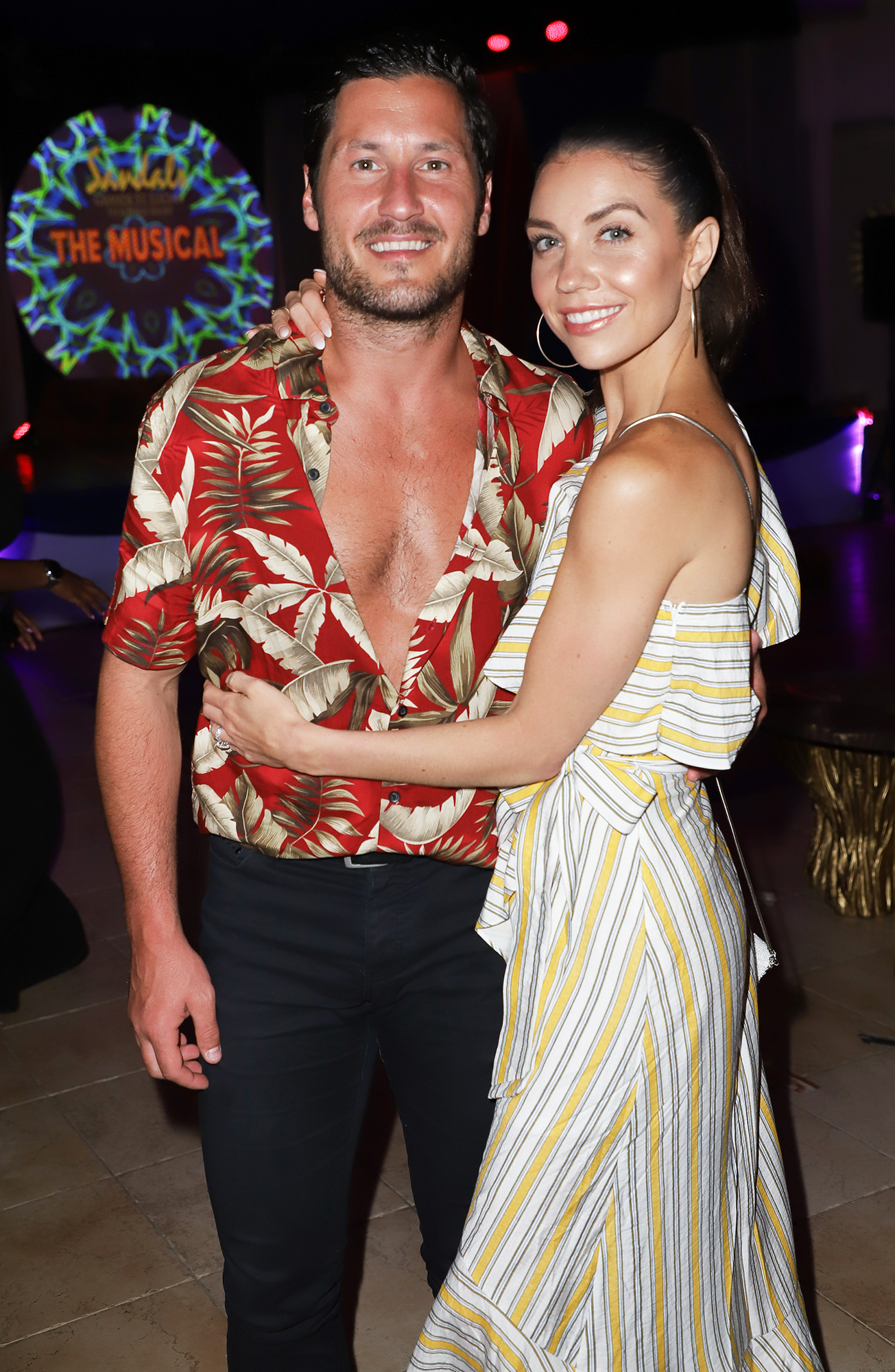 Val Chmerkovskiy Jenna Johnson Honeymoon - The professional dancers ended their vacation with a special surprise performance at the resort's talent night.