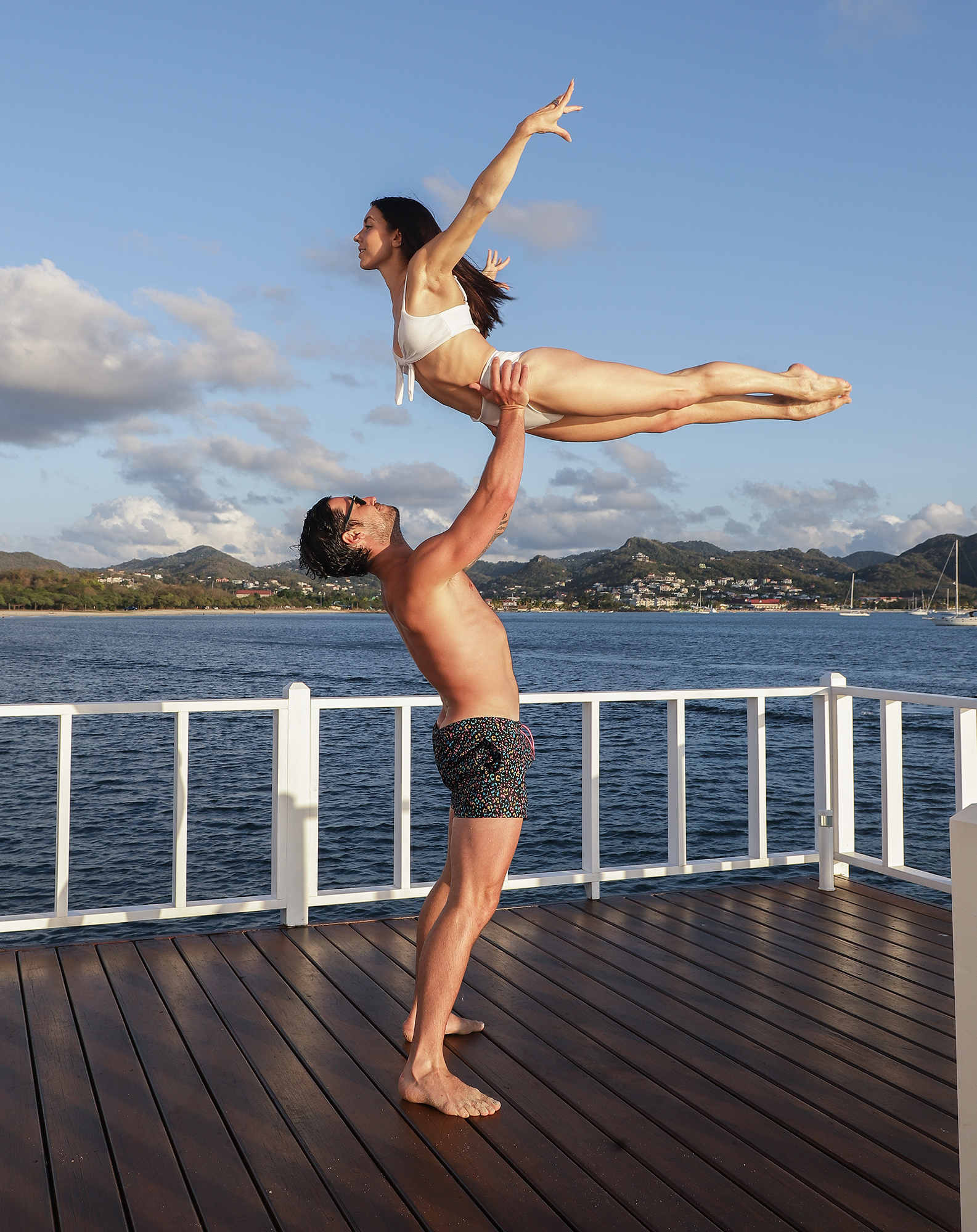 Val Chmerkovskiy Jenna Johnson Honeymoon - The pair pulled off a Dirty Dancing lift at the beautiful resort.