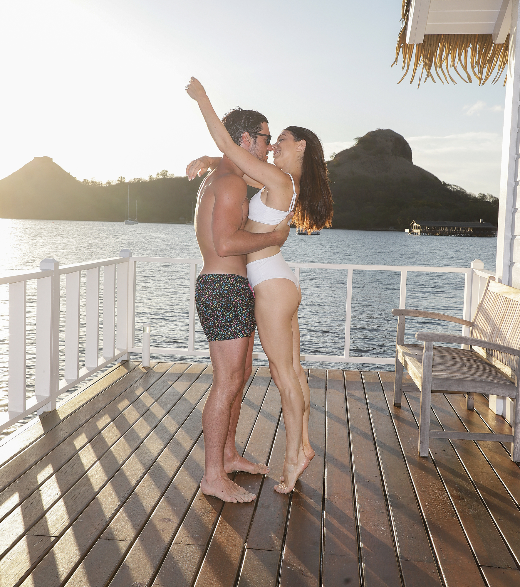 Val Chmerkovskiy Jenna Johnson Honeymoon - The duo couldn't keep their hands off of each other.