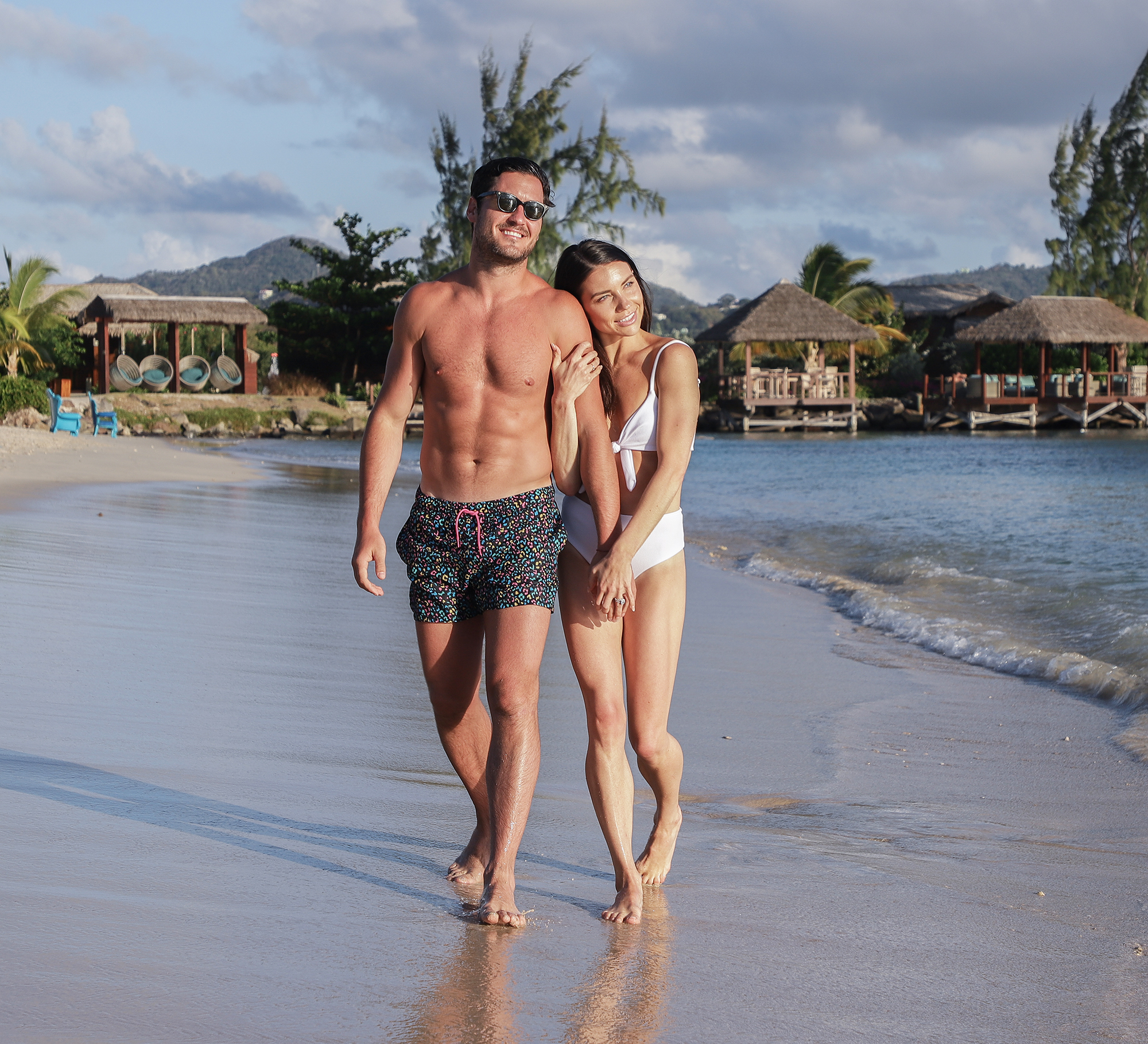Val Chmerkovskiy Jenna Johnson Honeymoon - Dancing with The Stars champions and newlyweds Val Chmerkovskiy & Jenna Johnson spend their honeymoon at the luxurious Sandals Grande St. Lucian resort. (MUST INCLUDE Sandals Grande St. Lucian resort)