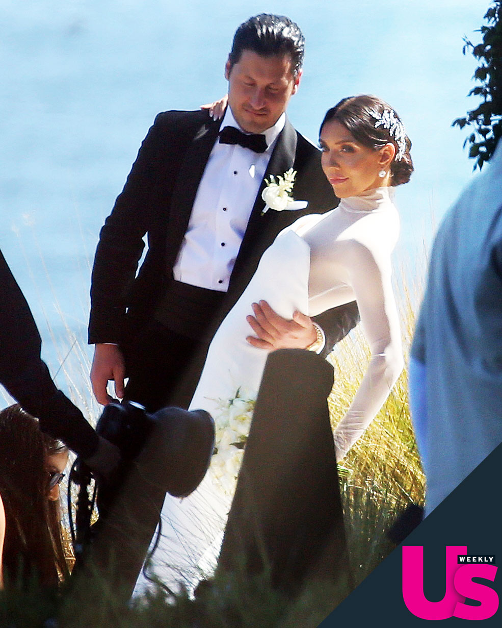 """Valentin-Chmerkovskiy-Jenna-Johnson-Wedding - The Dancing With the Stars pros tied the knot on the coast of Los Angeles on April 13. The Utah alum teared up as she told Chmerkovskiy, """"I promise to fulfill my duties as your wife."""""""