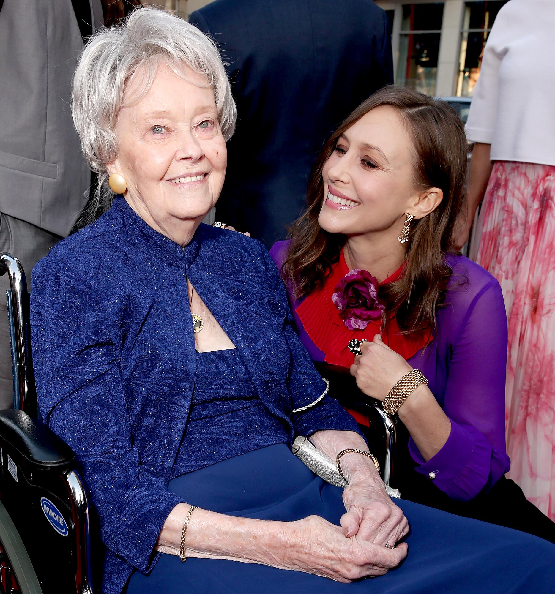 "Vera-Farmiga-and-Lorraine-Warren - Lorraine Warren and Vera Farmiga attend the Los Angeles Film Festival ""The Conjuring 2"" Premiere at TCL Chinese Theatre IMAX on June 7, 2016 in Hollywood, California."