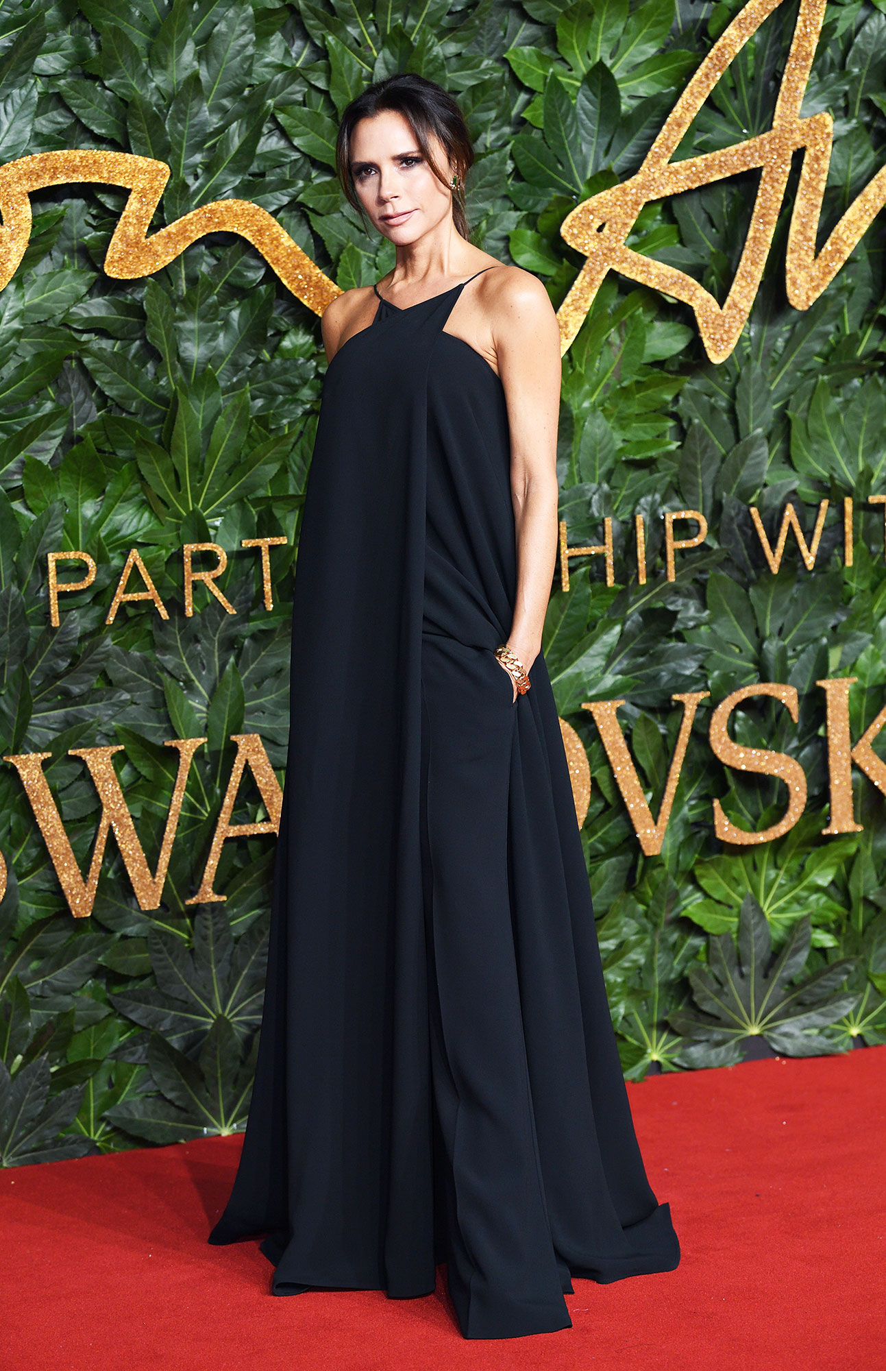 Victoria Beckham The Fashion Awards 2018 - Proving black is anything but boring, the designer attended the 2018 British Fashion Awards in a one-piece noir number that was actually a jumpsuit despite giving the illusion of being a gown.