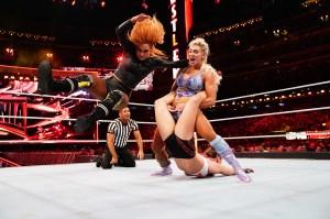 WWE Becky Lynch Slams Ronda Rousey